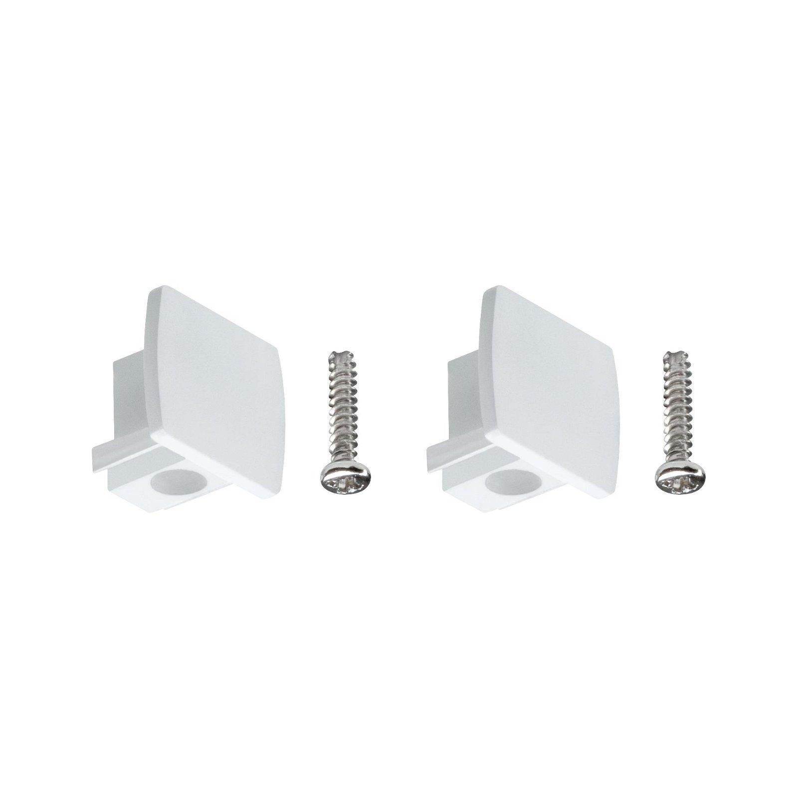 URail Verbindingen Set van 2 Eindkappen pak van 2 13x21mm Wit