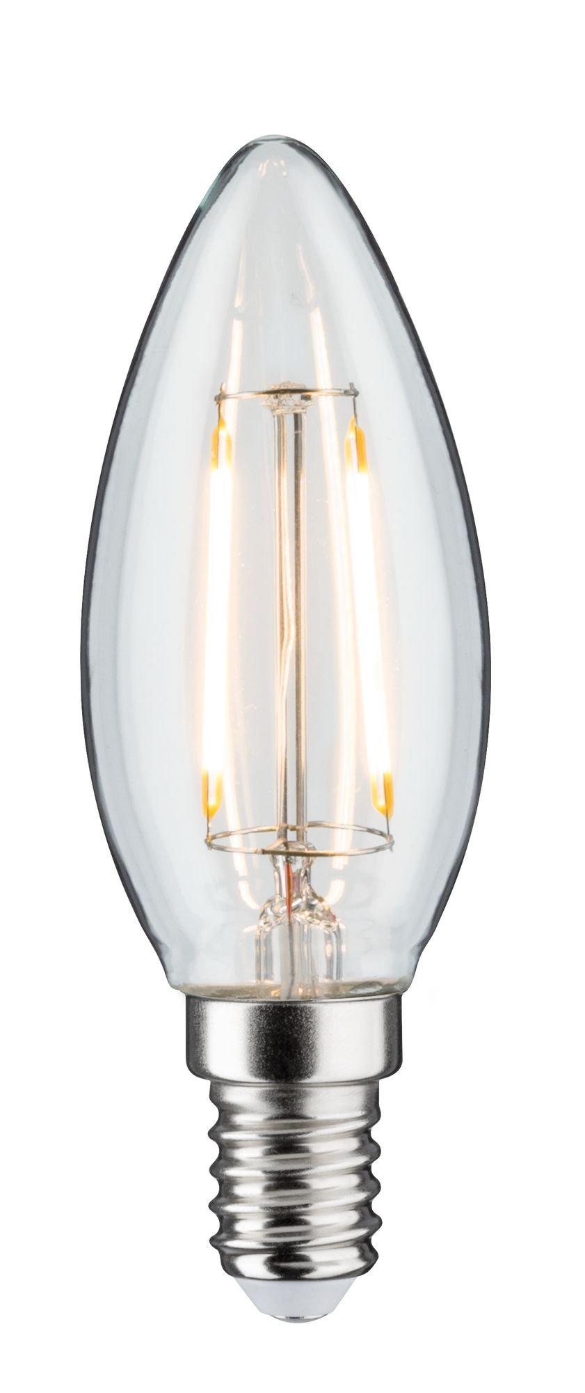 LED Kerze Filament E14 DC 24V 160lm 2W 3000K Klar