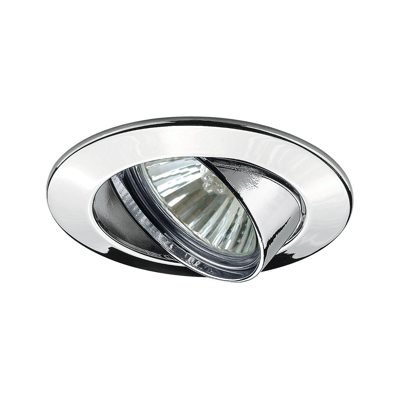 Premium LED Einbauleuchte rund 83mm 30° GU10 max. 50W 230V Chrom