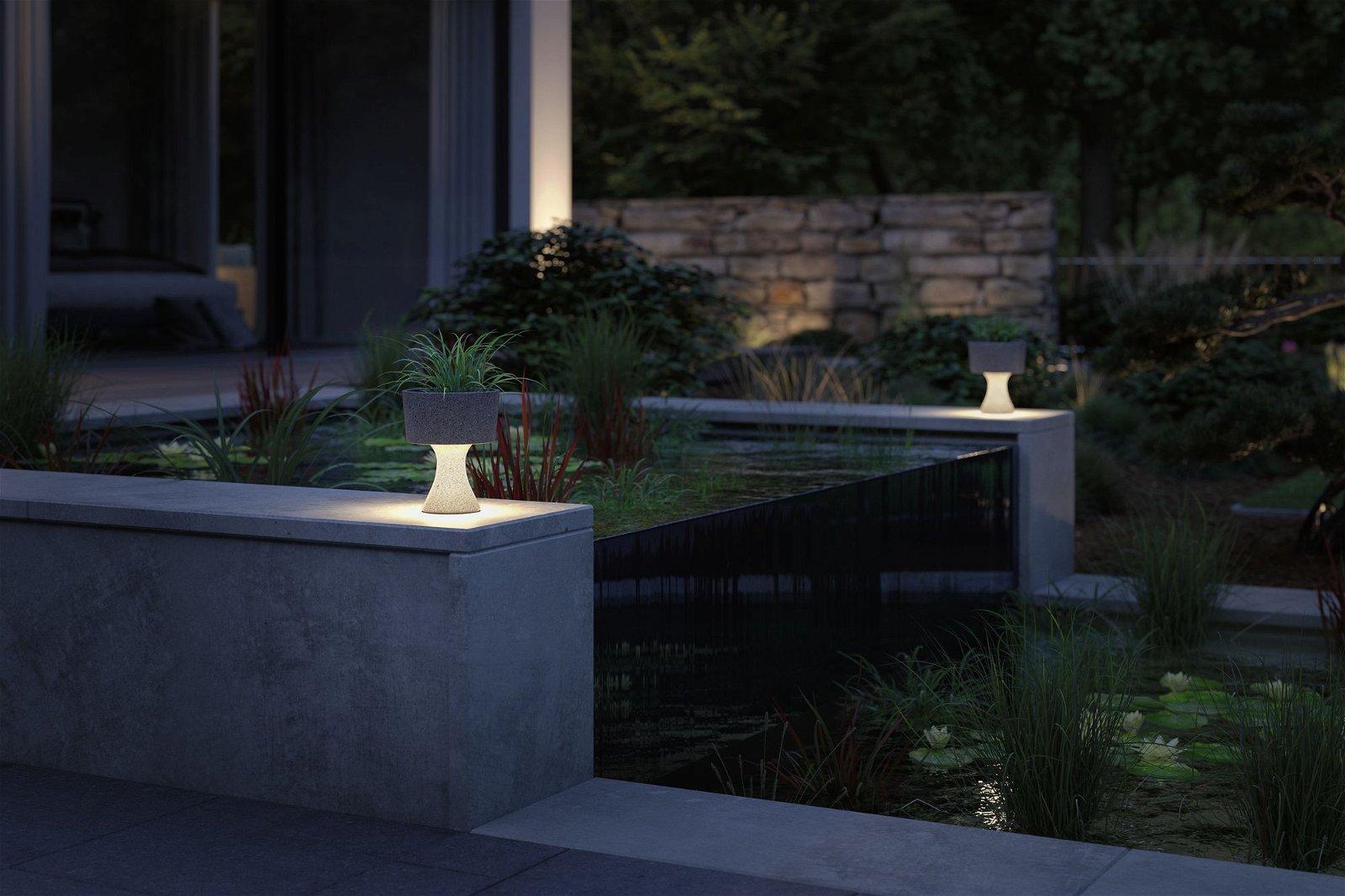 LED Lichtobjekt Concrea IP65 210mm 3000K 5,5W 600lm 230V Schwarzer Sandstein