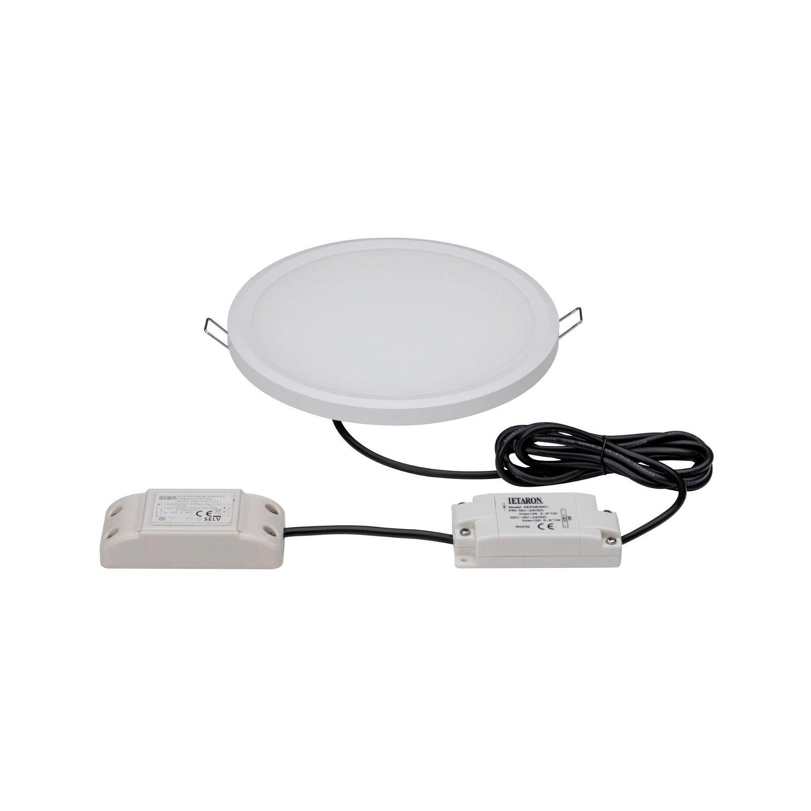 Panneau encastrable LED WarmDim IP65 rond 9W Blanc