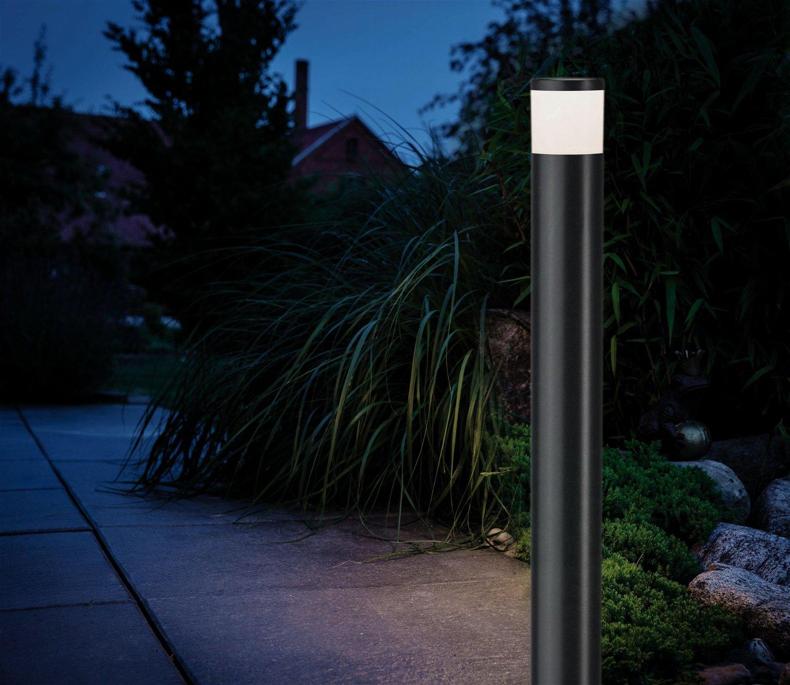 Borne lumineuse House IP44 230 V Gris sans ampoule, GU10