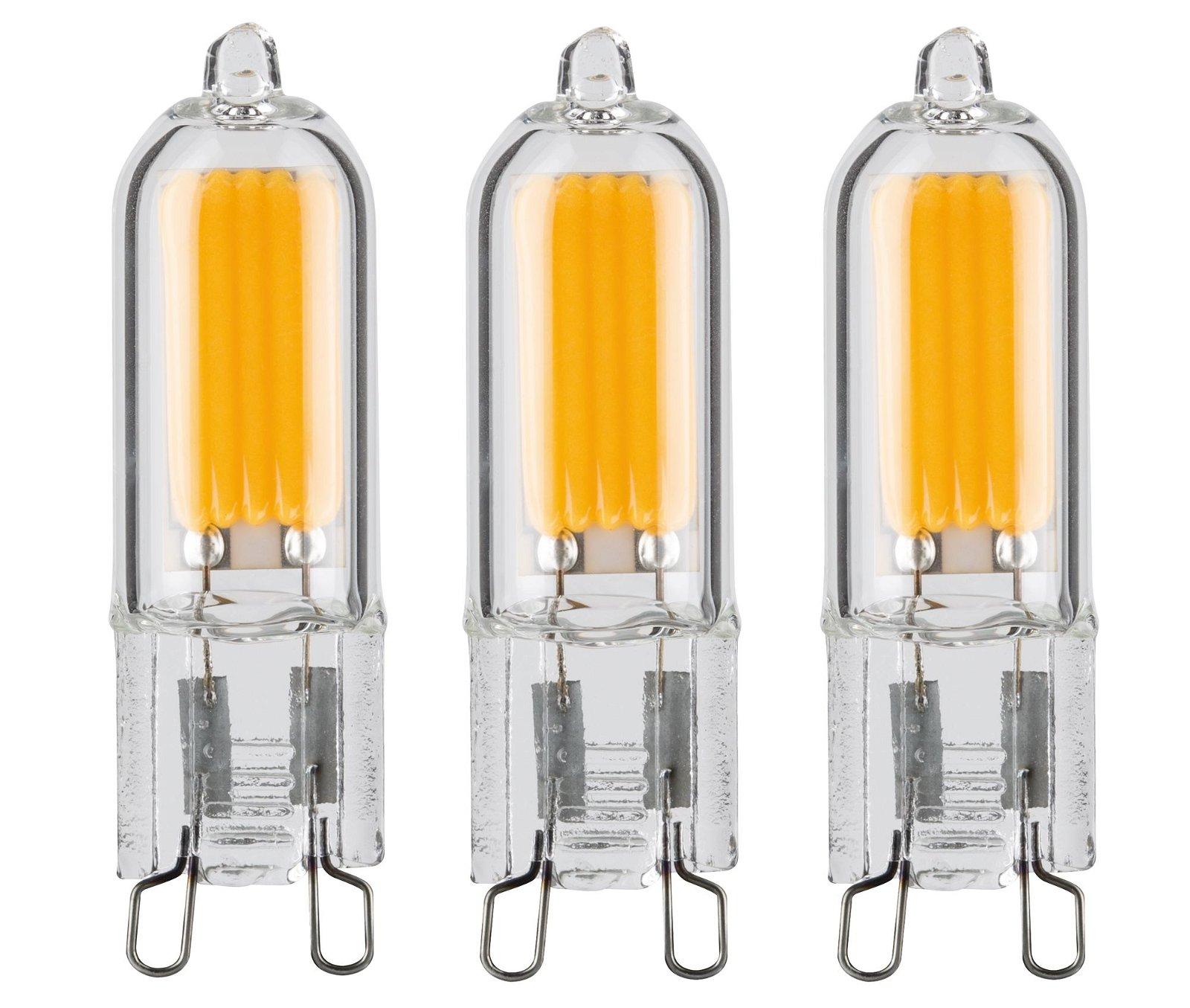 Culot à ergots LED Pack de 3 G9 230V 3x200lm 3x2W 2700K Clair