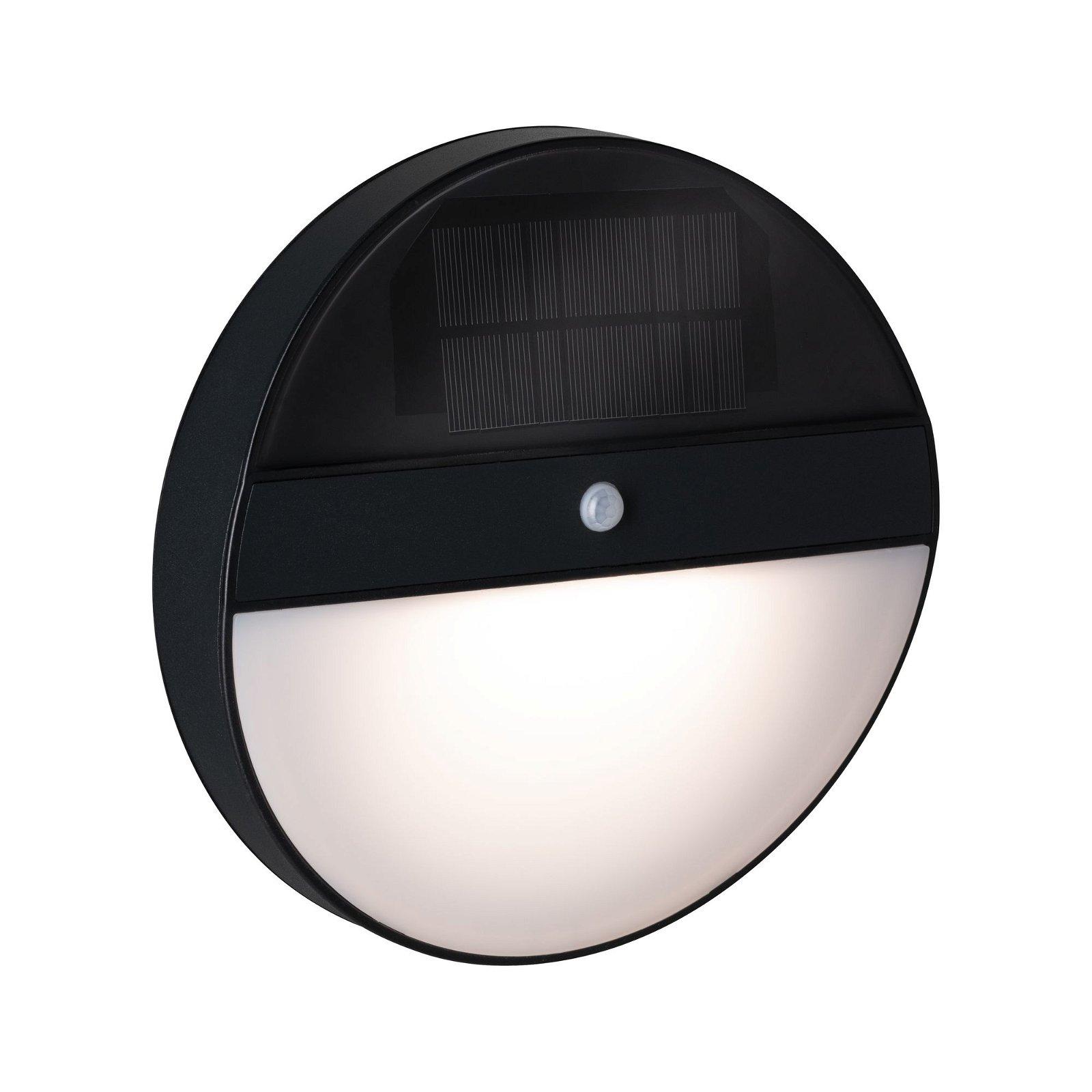 Solar LED Außenwandleuchte Elios Bewegungsmelder IP44 3000K 100lm Anthrazit
