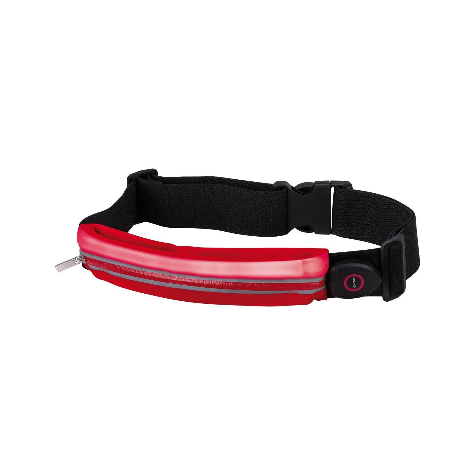 Sportlicht Laufgurt mit Smartphone-Fach Rot