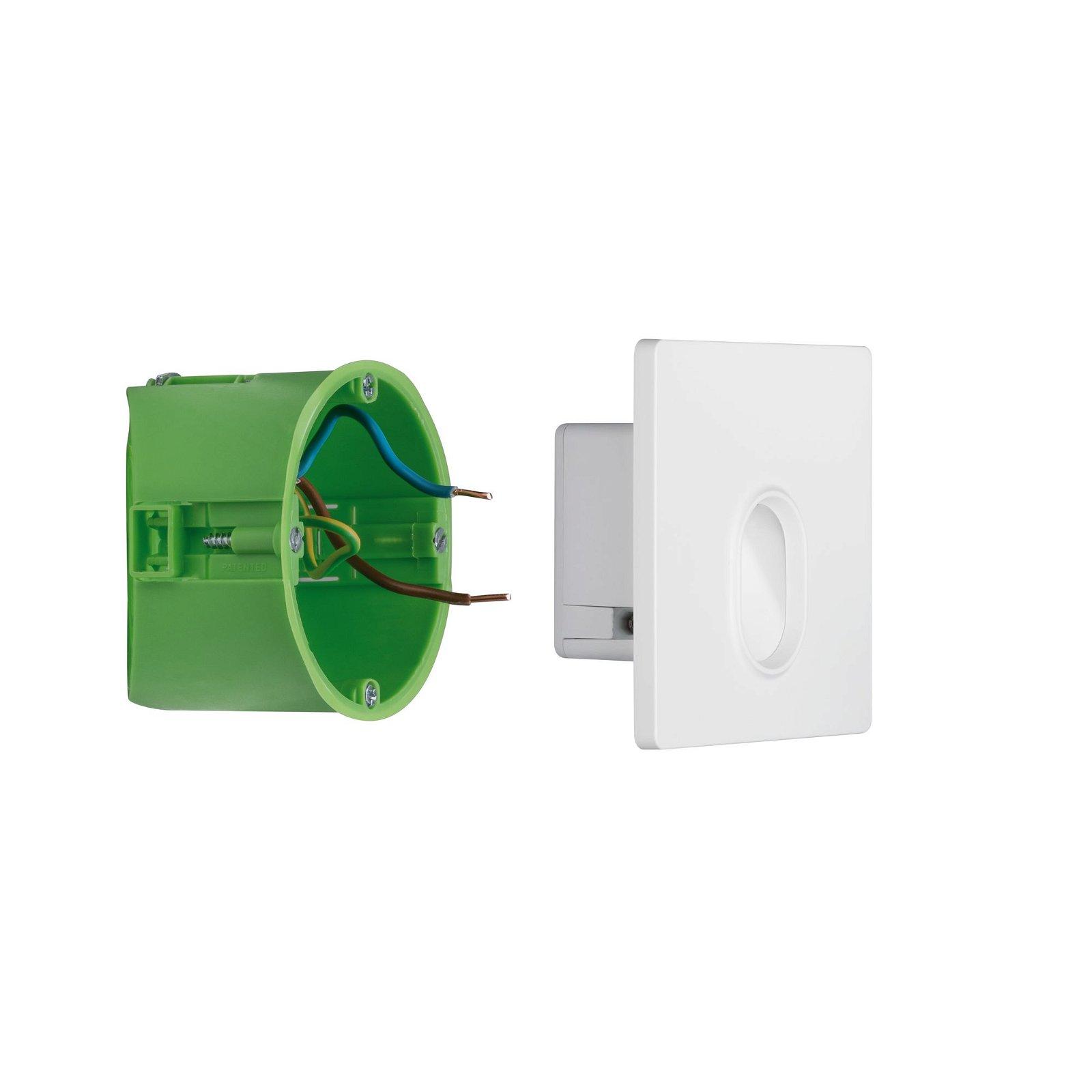LED Wandeinbauleuchte Wall eckig 78mm 1,7W 110lm 230V 2700K Weiß