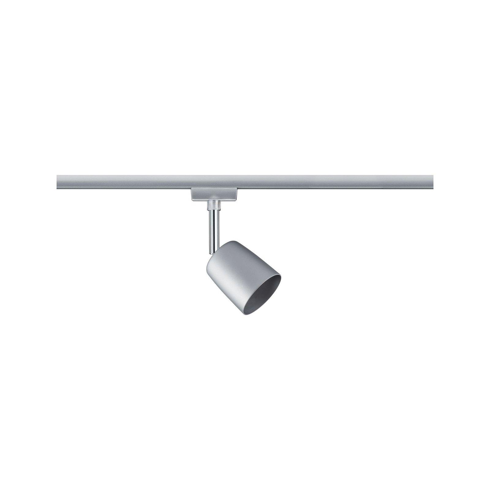 URail Spot sur rail Cover Luminaire individuel GU10 max. 10W 230V Chrome mat/Chrome
