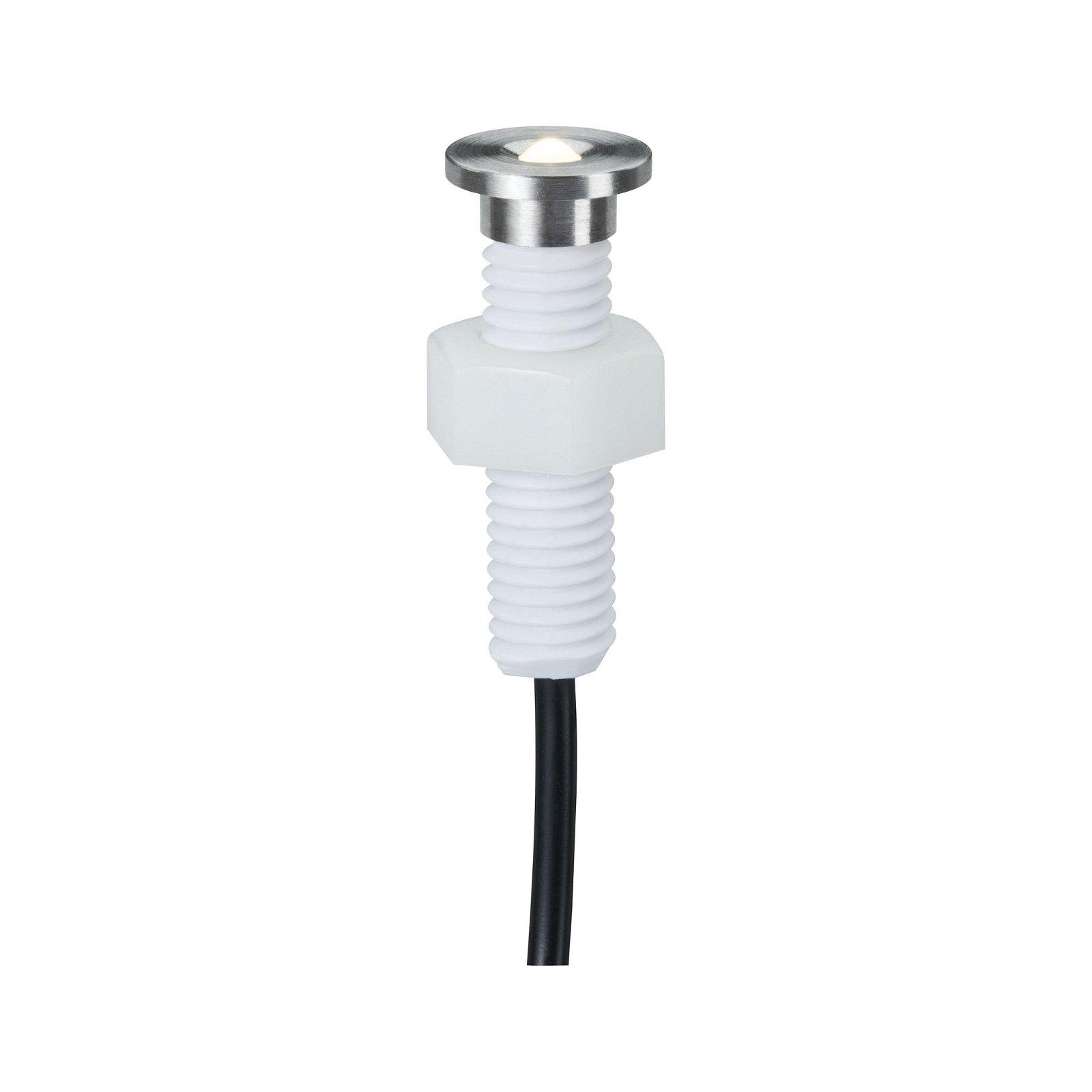 Plug & Shine LED Bodeneinbauleuchte MicroPen II Basisset IP67 3000K 5x0,22W 21VA Silber