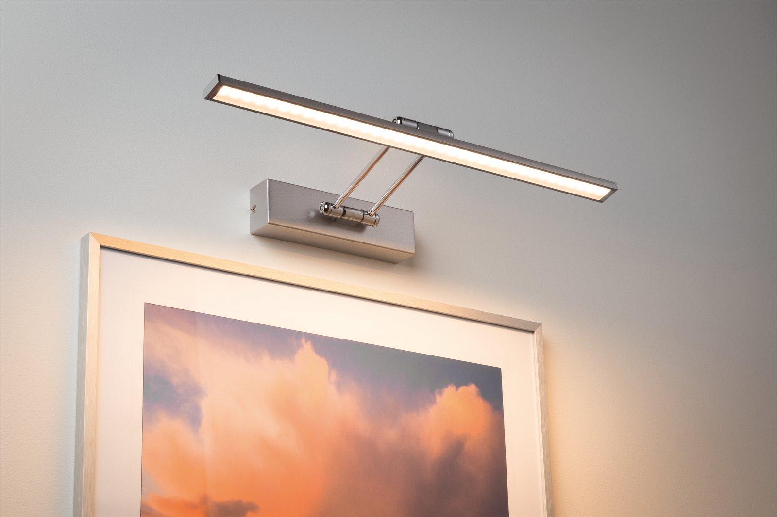 Galeria LED Picture luminaire Beam 2700K 850lm 230V 7W Brushed nickel/Chrome