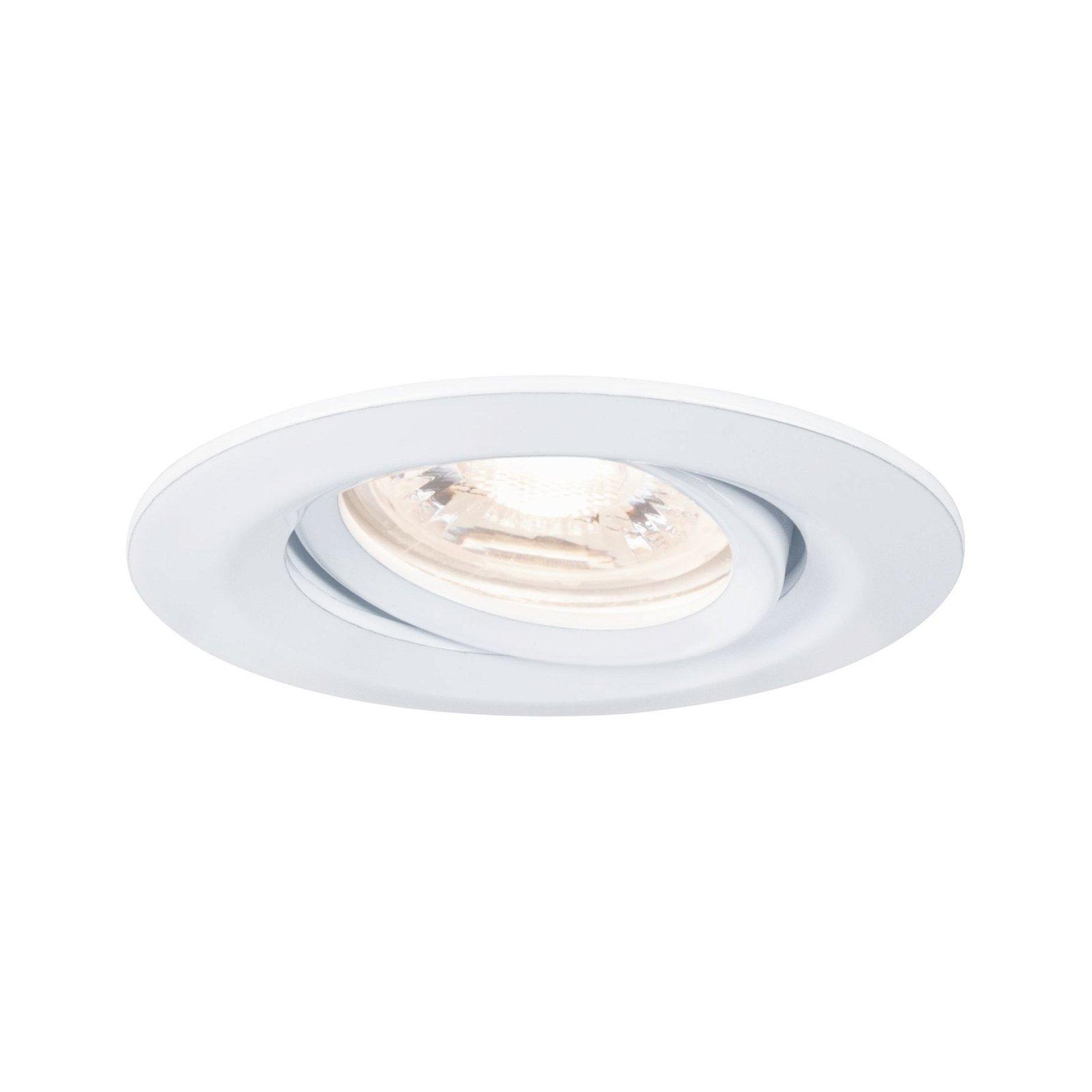 LED Einbauleuchte Nova Mini Coin Einzelleuchte schwenkbar rund 66mm 15° Coin 4W 310lm 230V 2700K Weiß matt