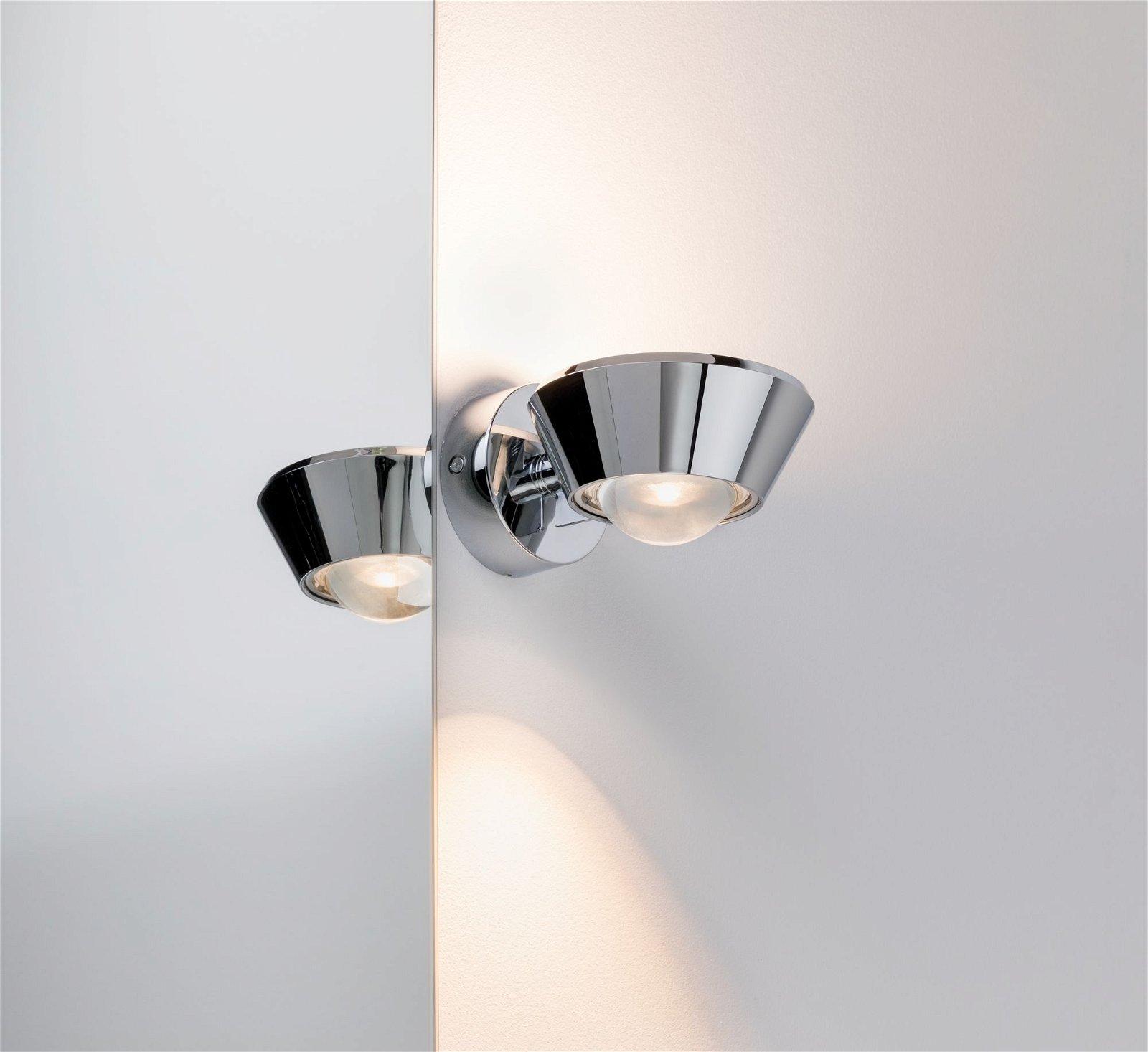 LED Wandleuchte Sabik IP44 2700K 570lm 230V 9 / 1x4W Chrom