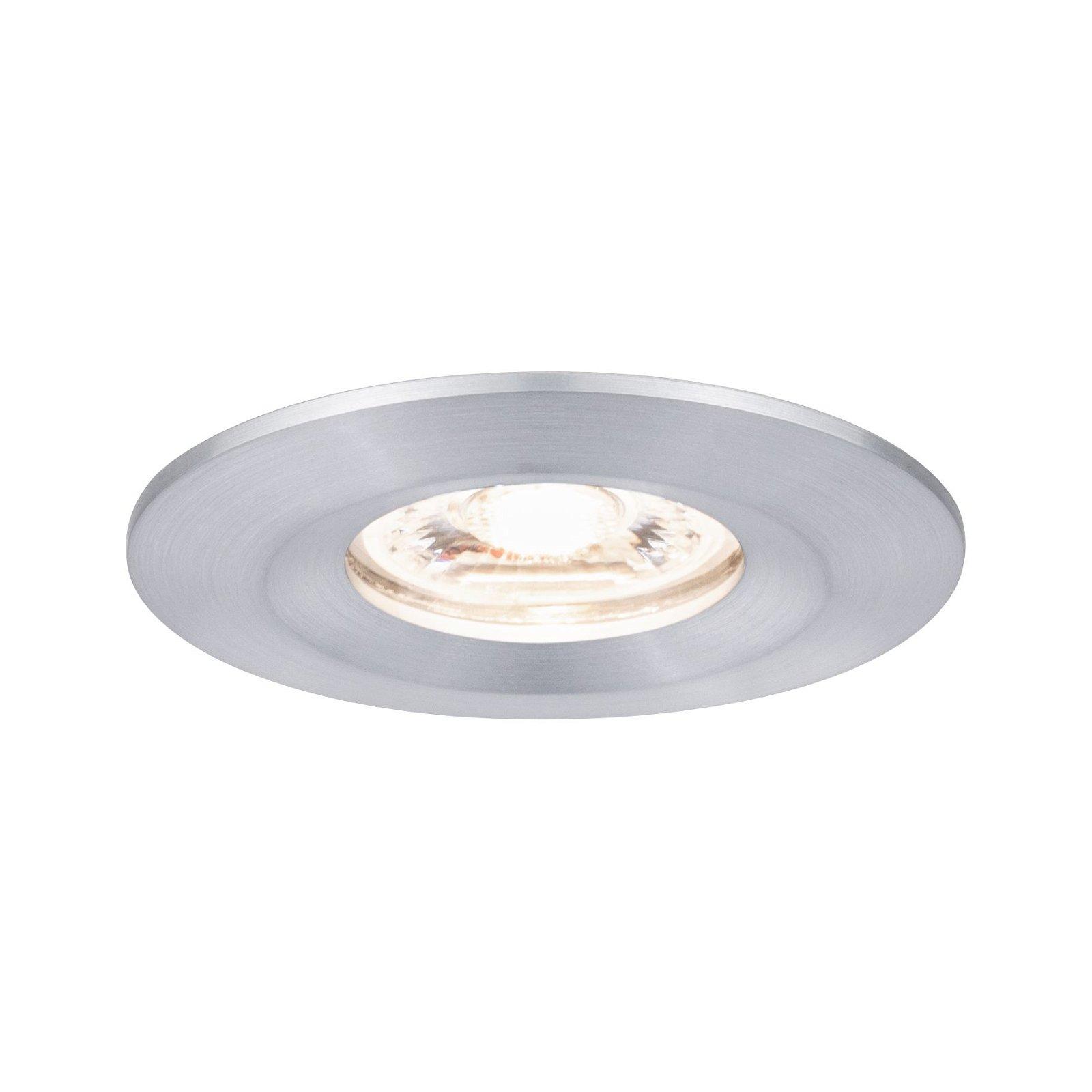 LED Einbauleuchte Nova Mini Coin Einzelleuchte starr IP44 rund 65mm Coin 4W 310lm 230V 2700K Alu gedreht