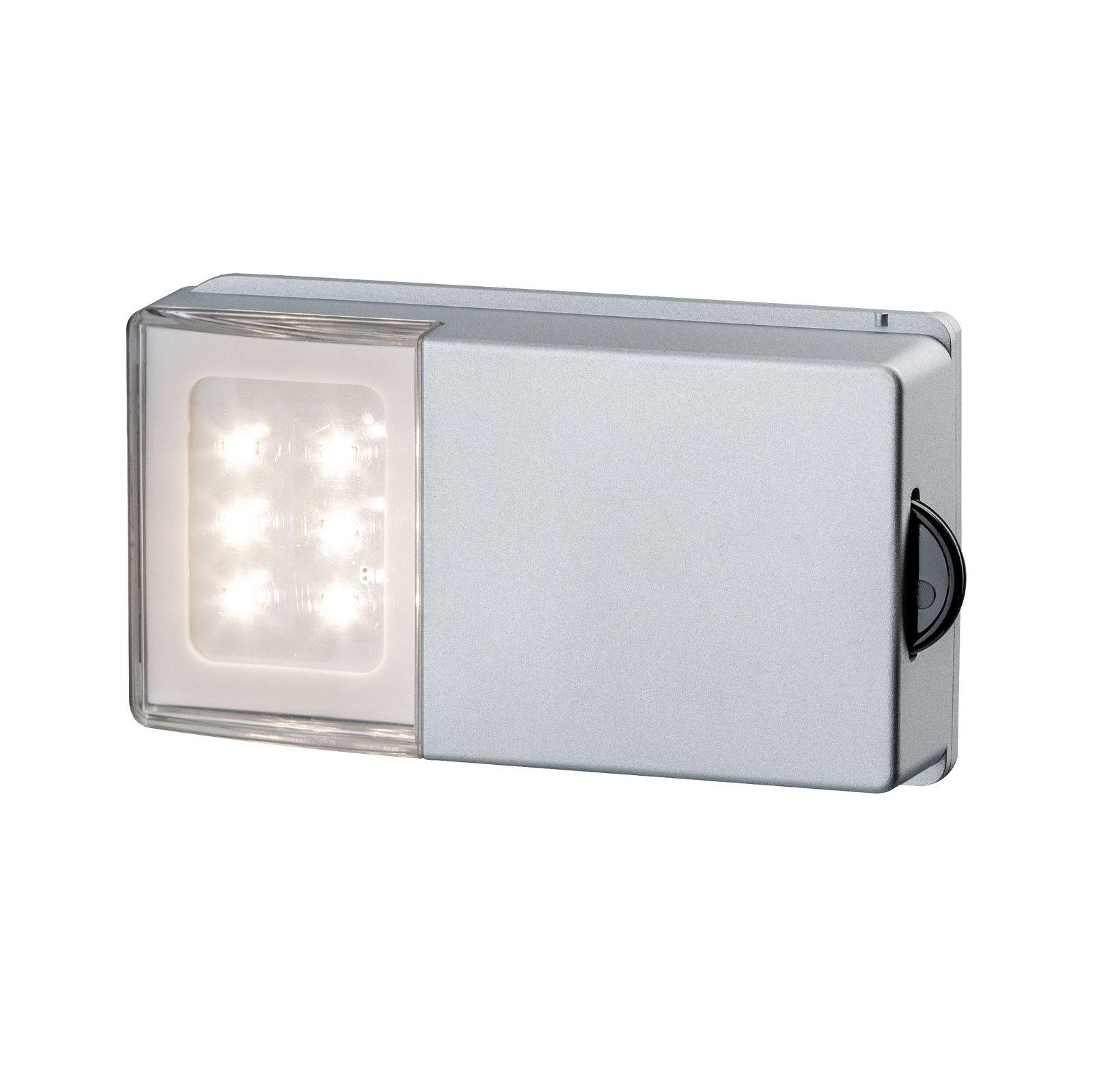 LED Schrankleuchte SnapLED 53x95mm 30lm 2700K Silber