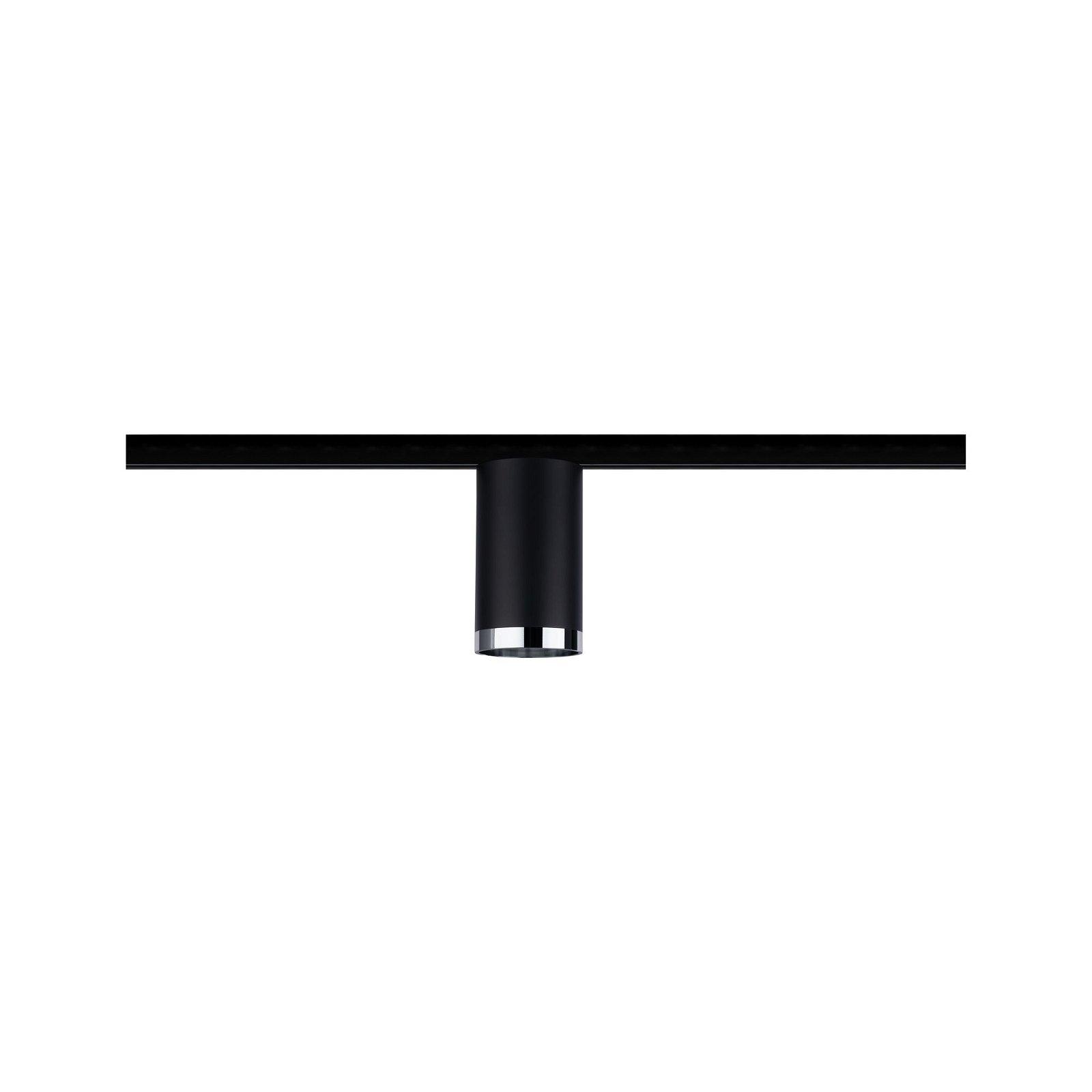 URail Schienenspot Tube GU10 max. 10W 230V Schwarz matt/Chrom