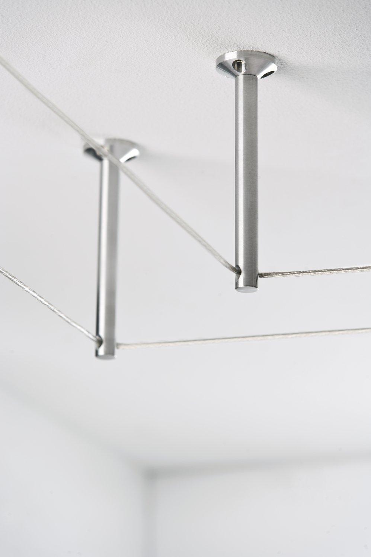 Seilsystem Montageset Umlenker/Abhängung Chrom matt