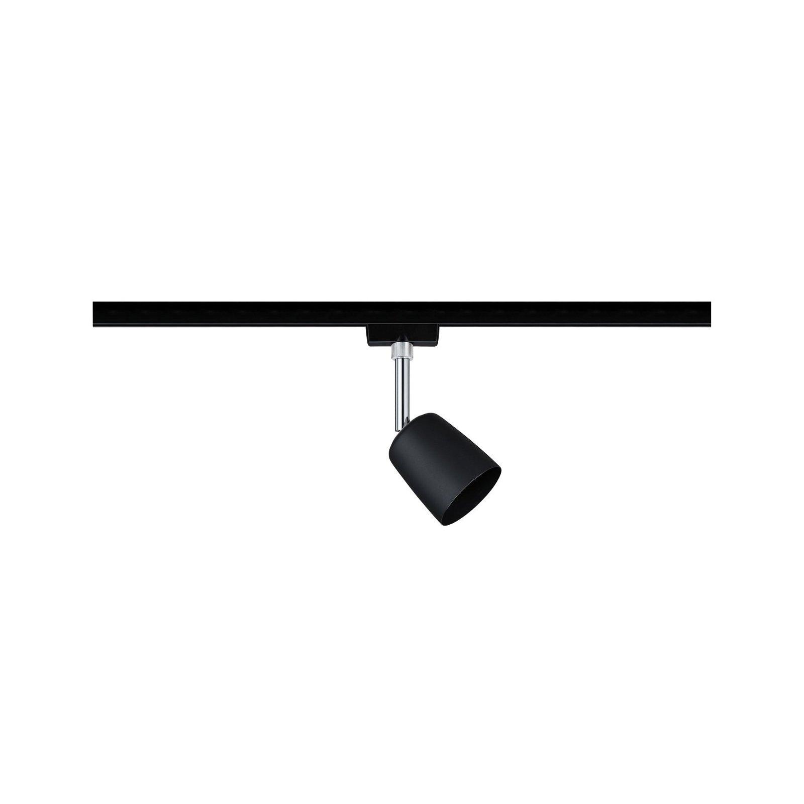 URail Railspot Cover Enkele lamp GU10 max. 10W 230V Zwart mat/Chroom