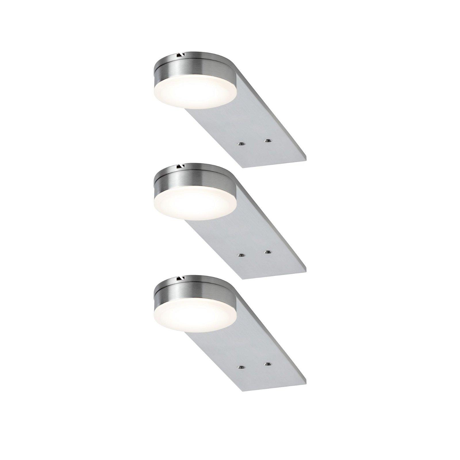 LED Unterschrankleuchte Setup 3x3,2W 50x200mm 3x250lm 230V rund Eisen gebürstet