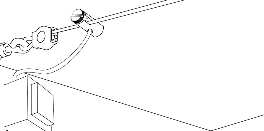 Seilsystem Stromeinspeisung 12mm max. 300W Chrom matt