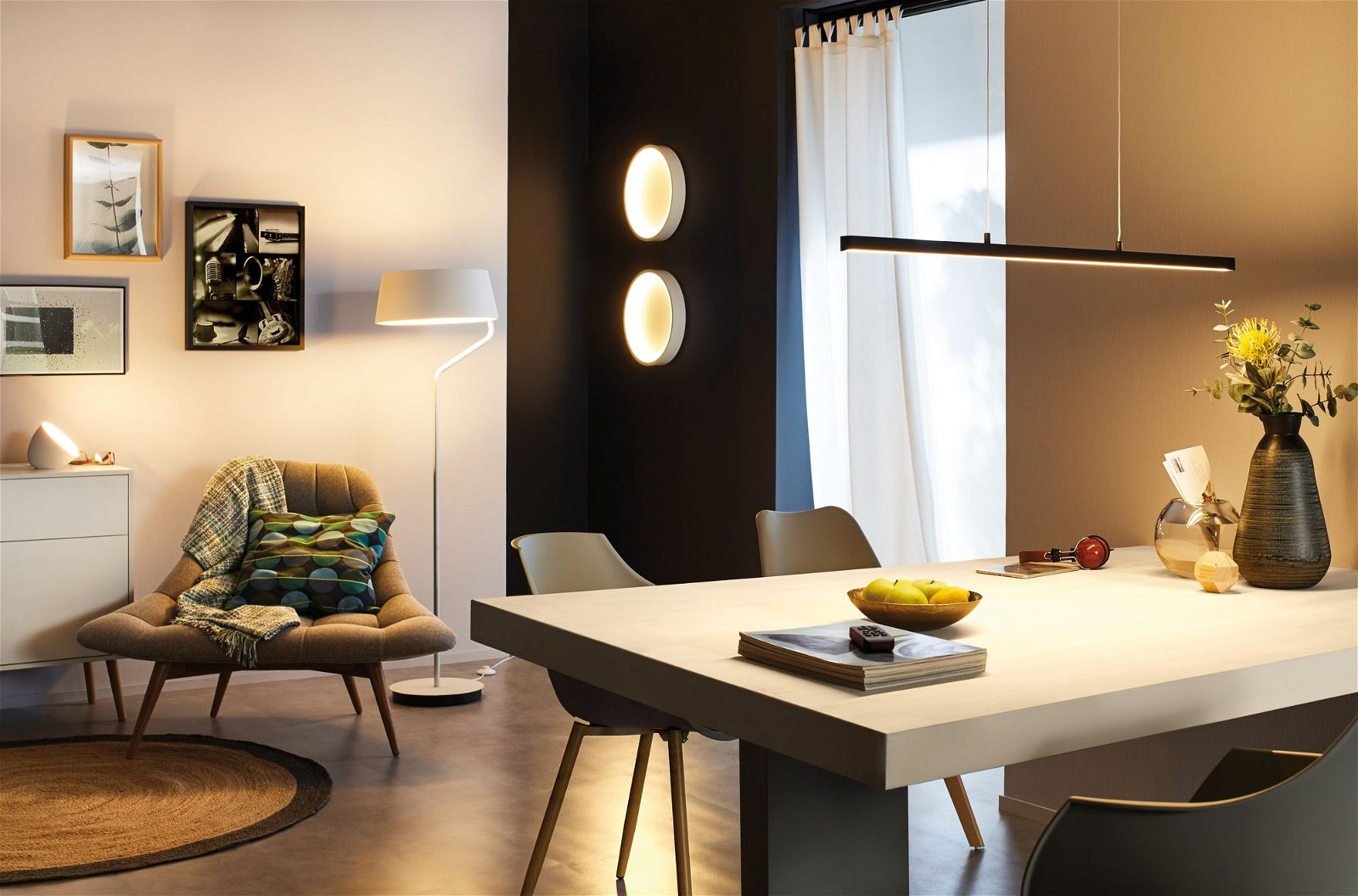Staande LED-lamp Smart Home Bluetooth Belaja RGBW 900lm 8W Wit/Chroom mat