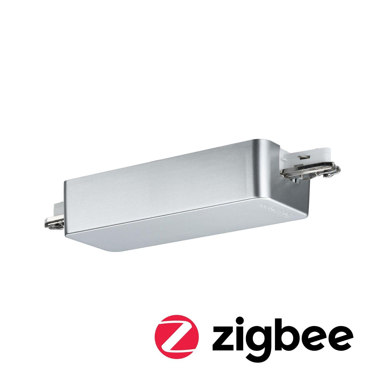 URail Adaptateur de rail Smart Home Zigbee Dimm/Switch 155x56mm Chrome mat