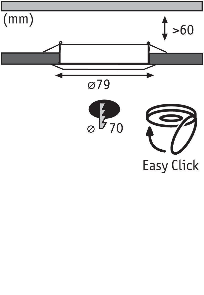 Premium LED Einbauleuchte IP44 rund 79mm GX5,3 max. 50W 12V Eisen gebürstet