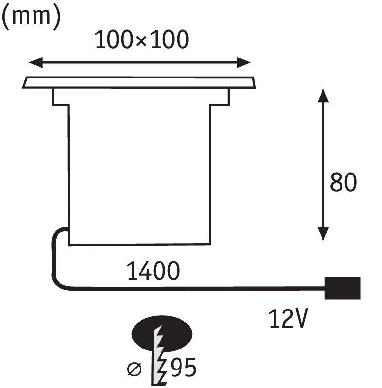 Set vloerinbouwlampen Special Line LED Warmwit, edelstaal, set van 3