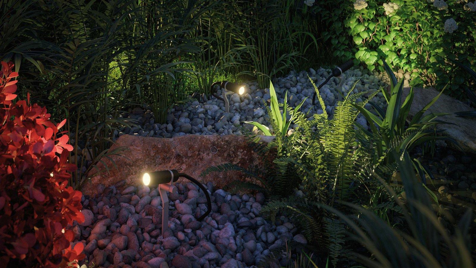 Plug & Shine Projecteur de jardin LED Plantini Kit de base IP65 3000K 3x2,5W 21VA Anthracite