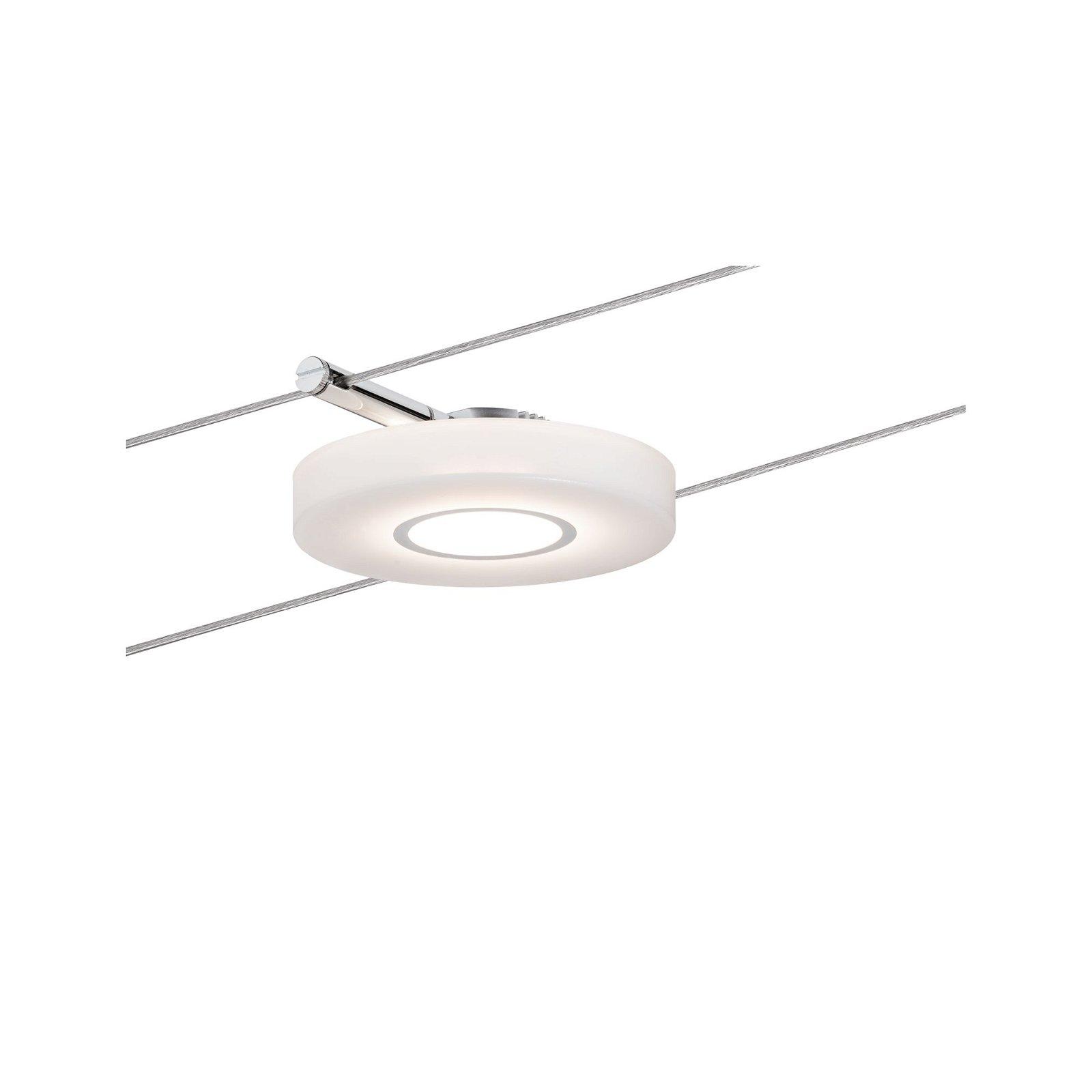 LED Seilsystem DiscLED I Einzelspot 200lm 4W 2700K 230/12V Chrom/Satin
