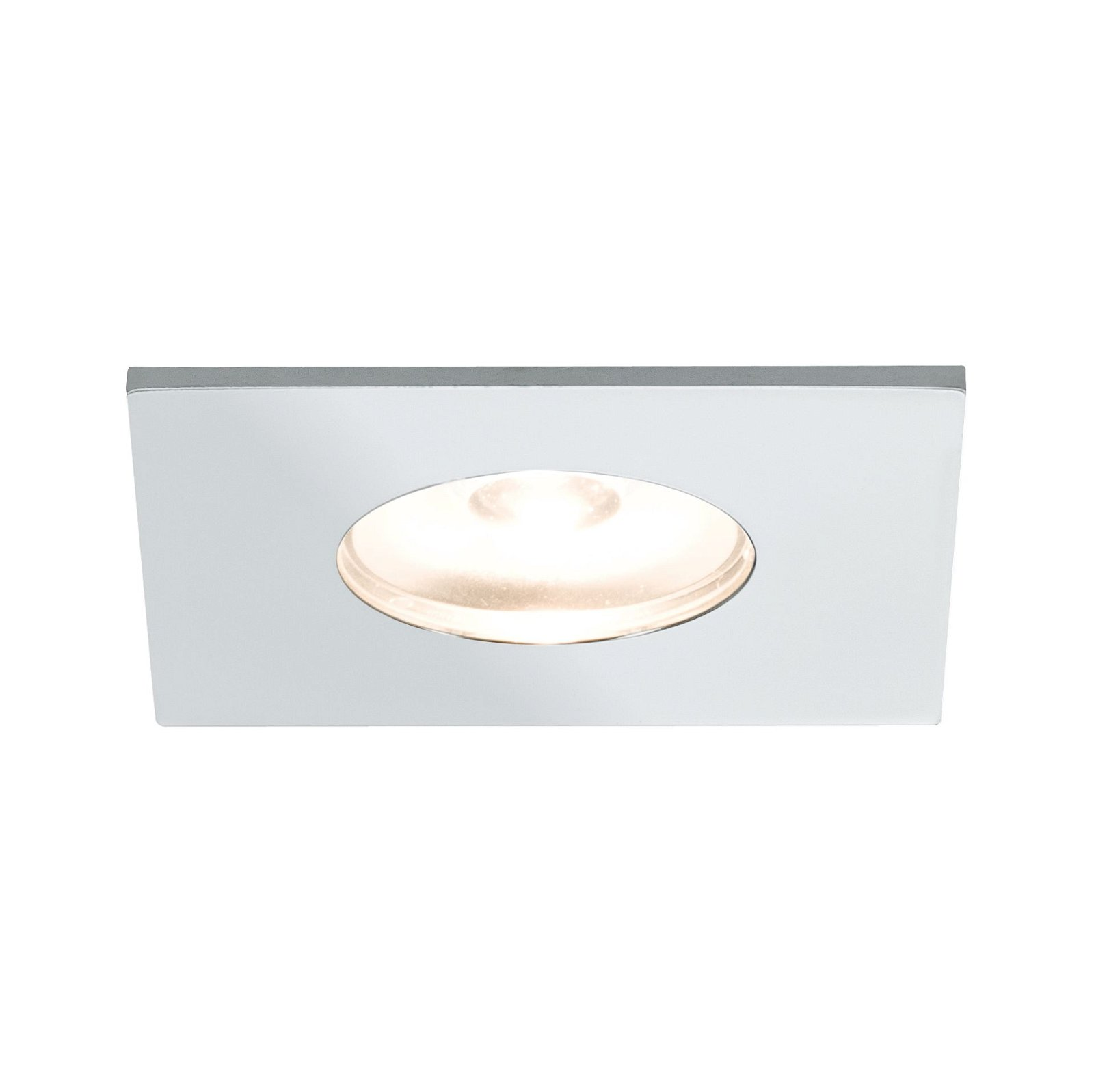 LED-meubelinbouwlampen Micro Line Mini hoekig 35x35mm 5x1W 5x110lm 230V 2700K Chroom