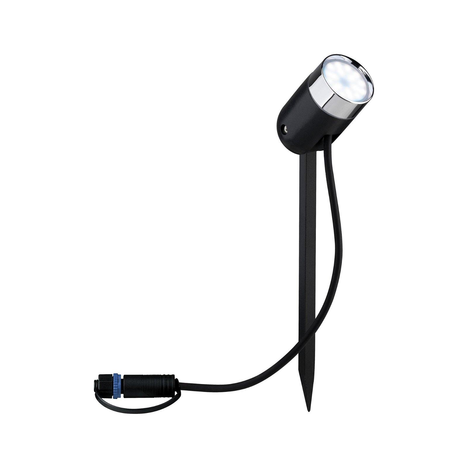 Plug & Shine LED Gartenstrahler Smart Home Zigbee Pike Basisset IP44 RGBW 3x4,5W 21VA Anthrazit