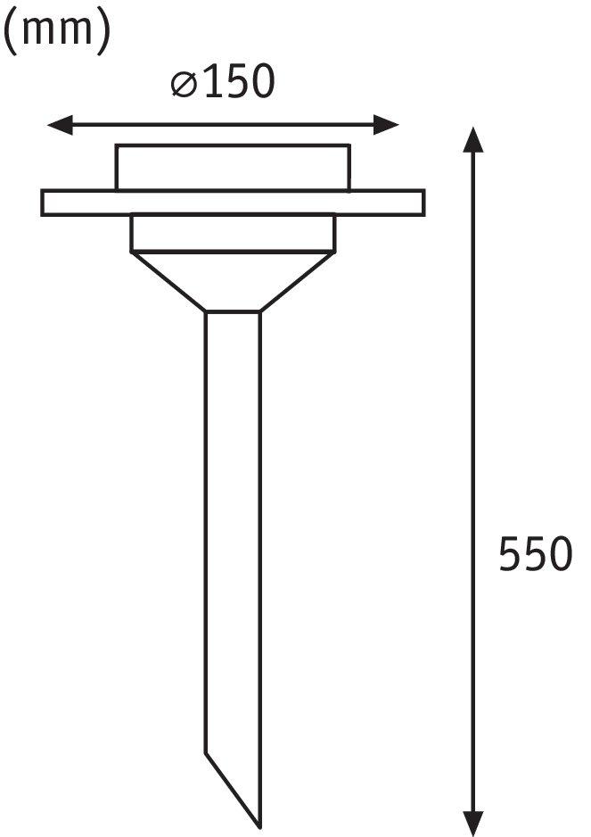 Solar LED Gartenstrahler Ufo IP44 3000K Edelstahl/Klar