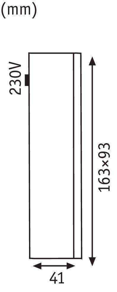 Außenwandleuchte Slot IP44 rund 93x41mm 2700K 2,4W 120lm 230V Alu matt Alu