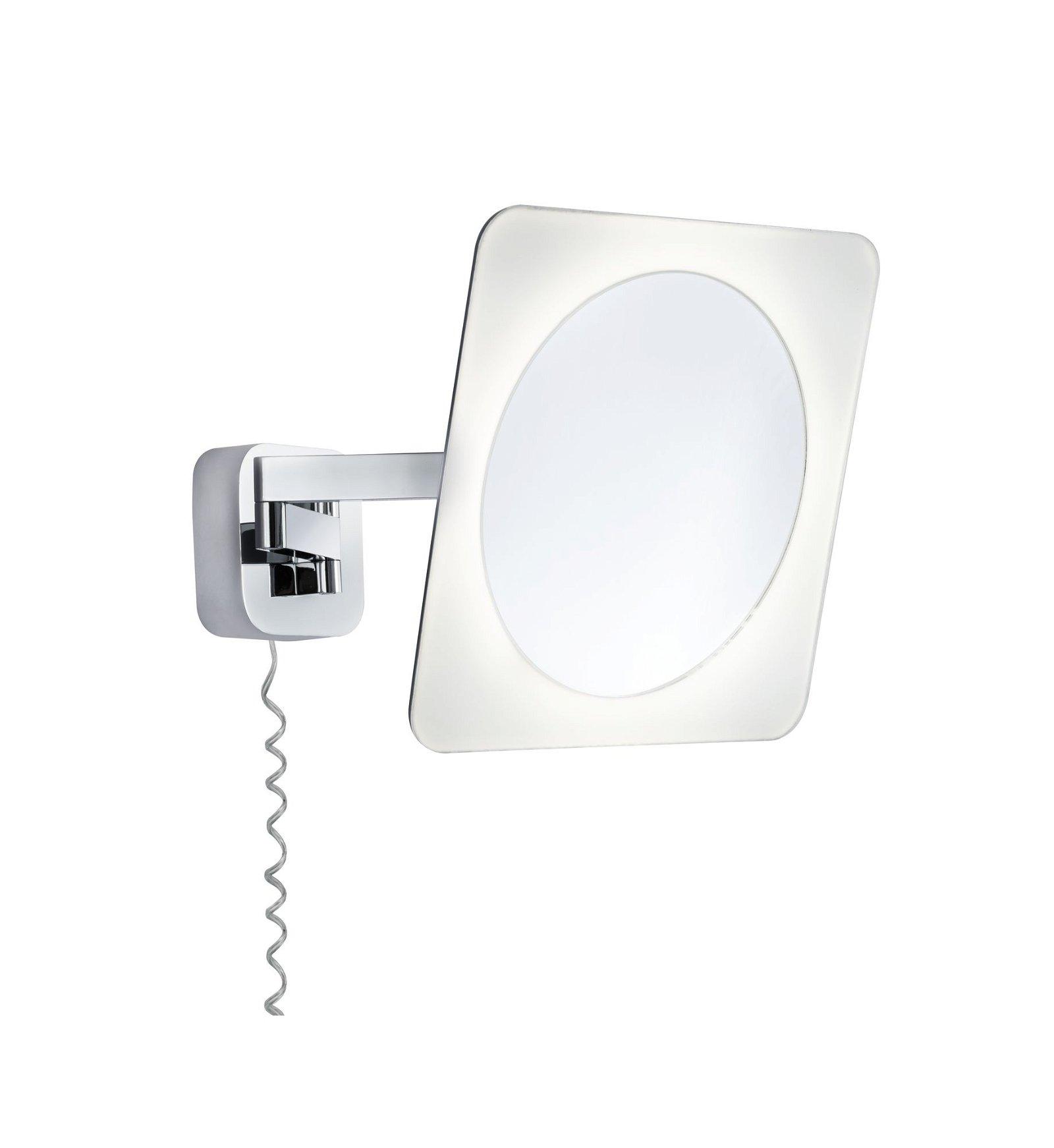 LED Kosmetikspiegel Bela Mit Leuchtmittel IP44 3000K 260lm 230V 5,7W Chrom/Weiß/Spiegel