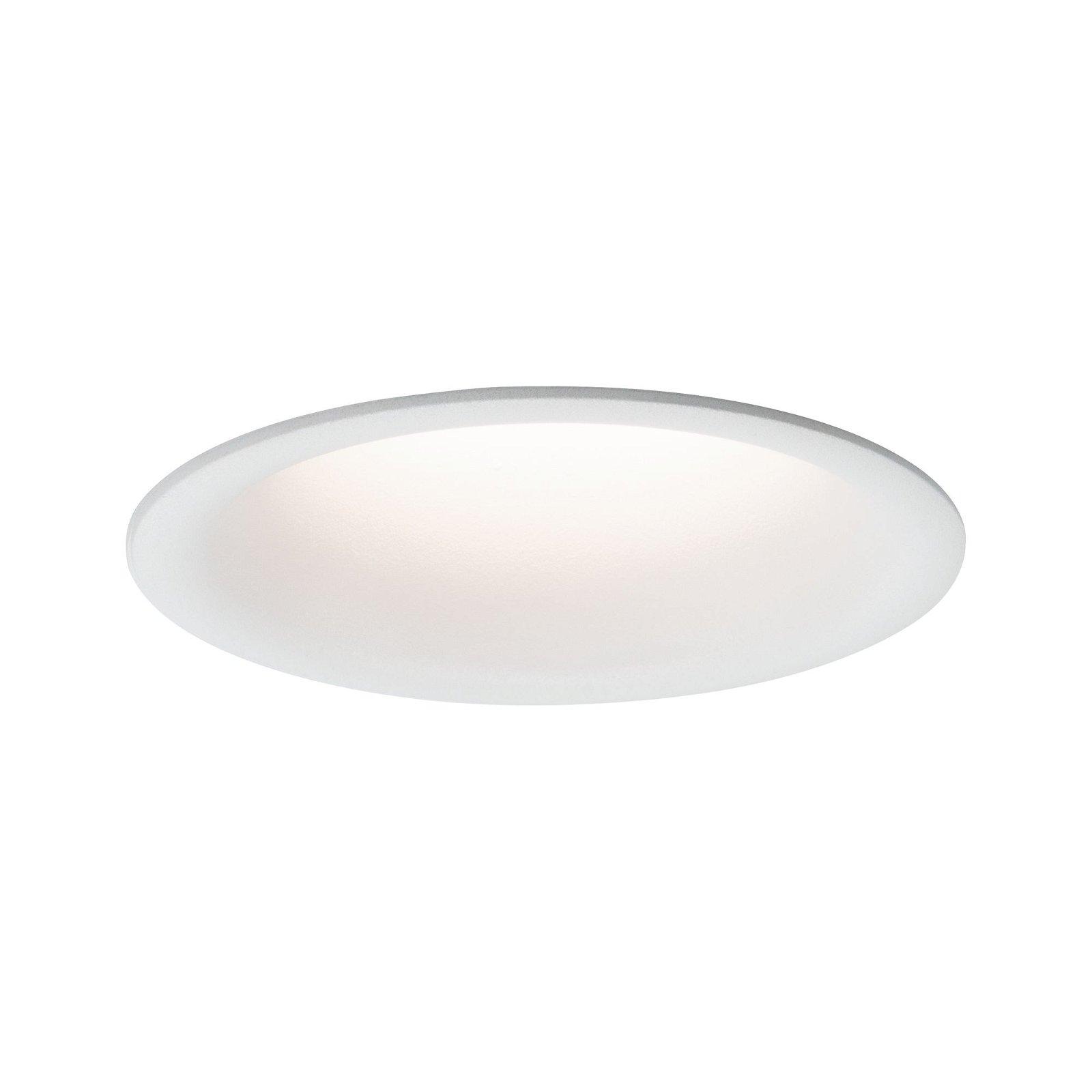 Spot encastré LED Cymbal Coin Kit de base IP44 77mm Coin 3x6,8W 3x500lm 230V 2700K Blanc dépoli