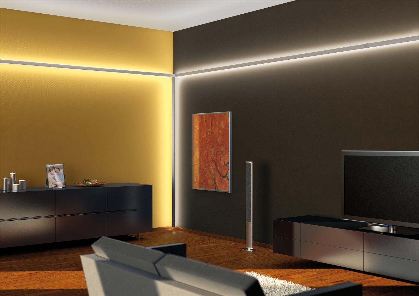 LED Strip profiel Duo 1m Alu geëloxeerd