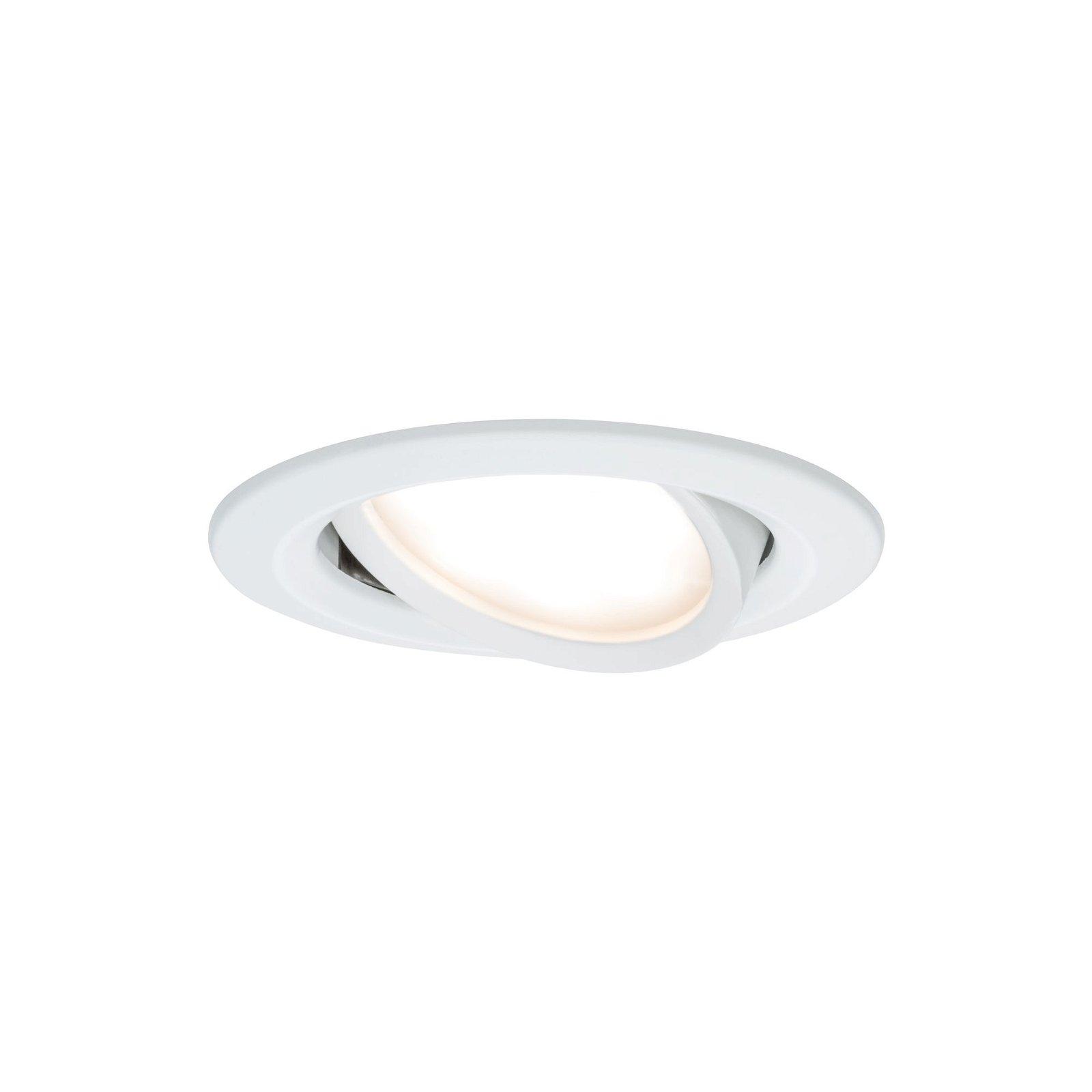 LED-inbouwlamp Nova Coin Basisset zwenkbaar rond 84mm 50° Coin 3x6,5W 3x460lm 230V 2700K Wit mat