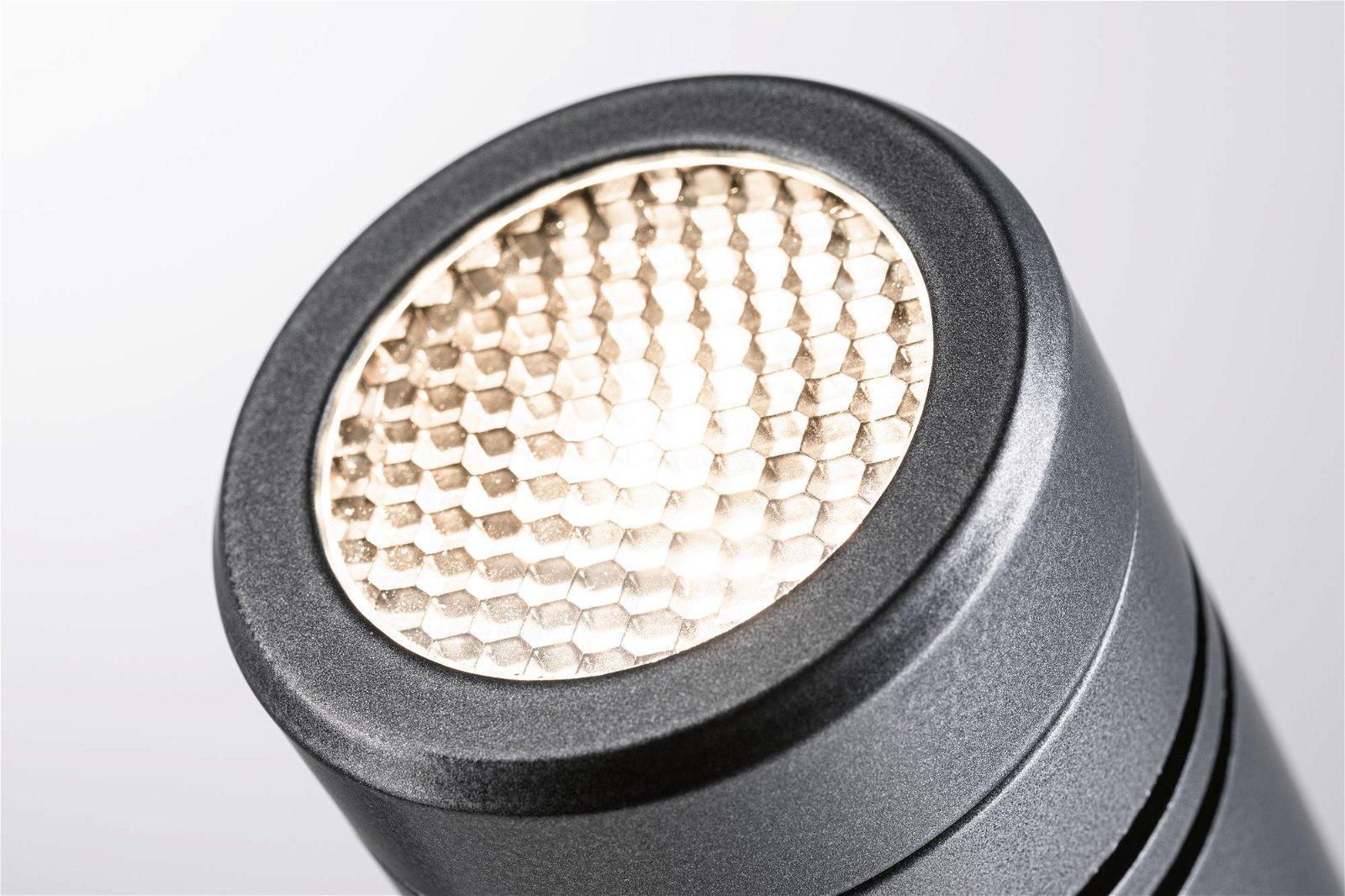LED Gartenstrahler Radon IP65 55mm 3000K 11W 1200lm 230V Grau Aluminium