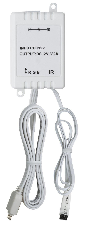 YourLED Controller RGB mit IR Fernbedienung DC 12V max. 60W Weiß