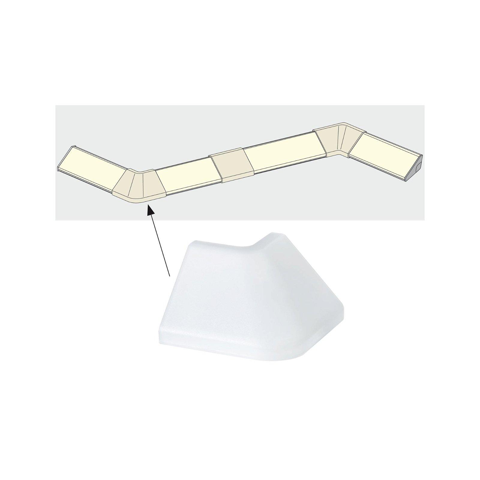 LED Strip profiel Delta Outside Corner pak van 2 Satijn