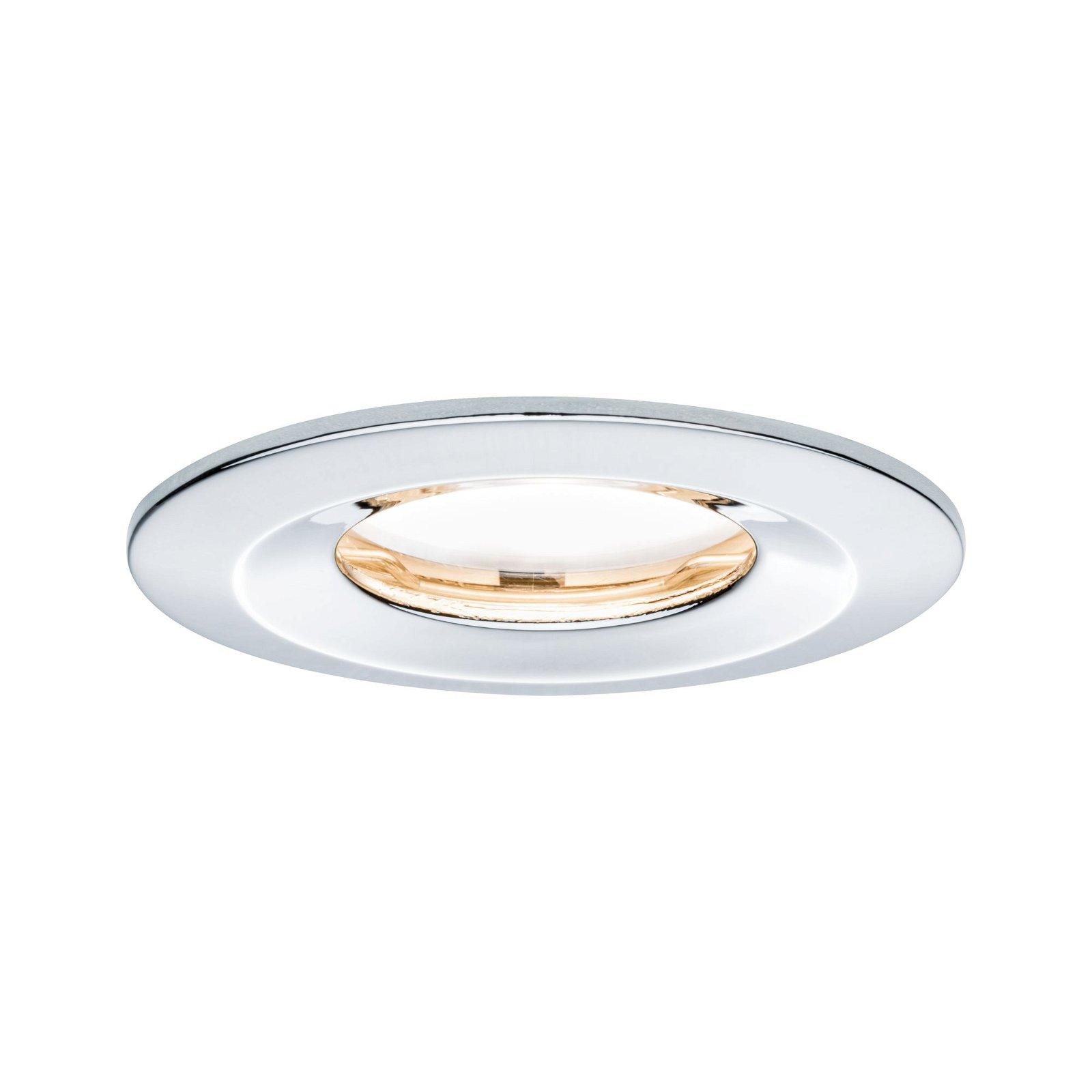 Spot encastré LED Nova Plus fixe IP65 rond 78mm Coin 6,8W 425lm 230V 2700K Chrome
