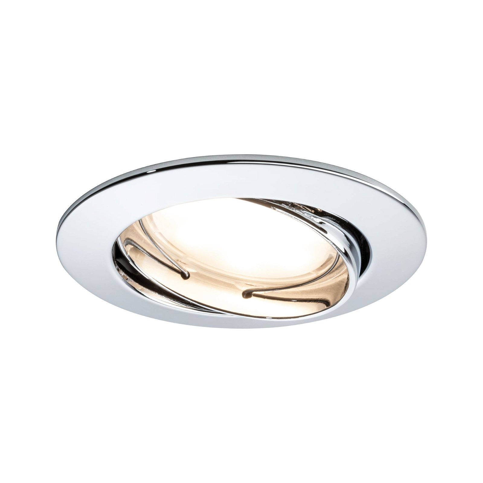 Encastrés LED Coin satiné rond 6,8W Chrome Kit de3 orientables