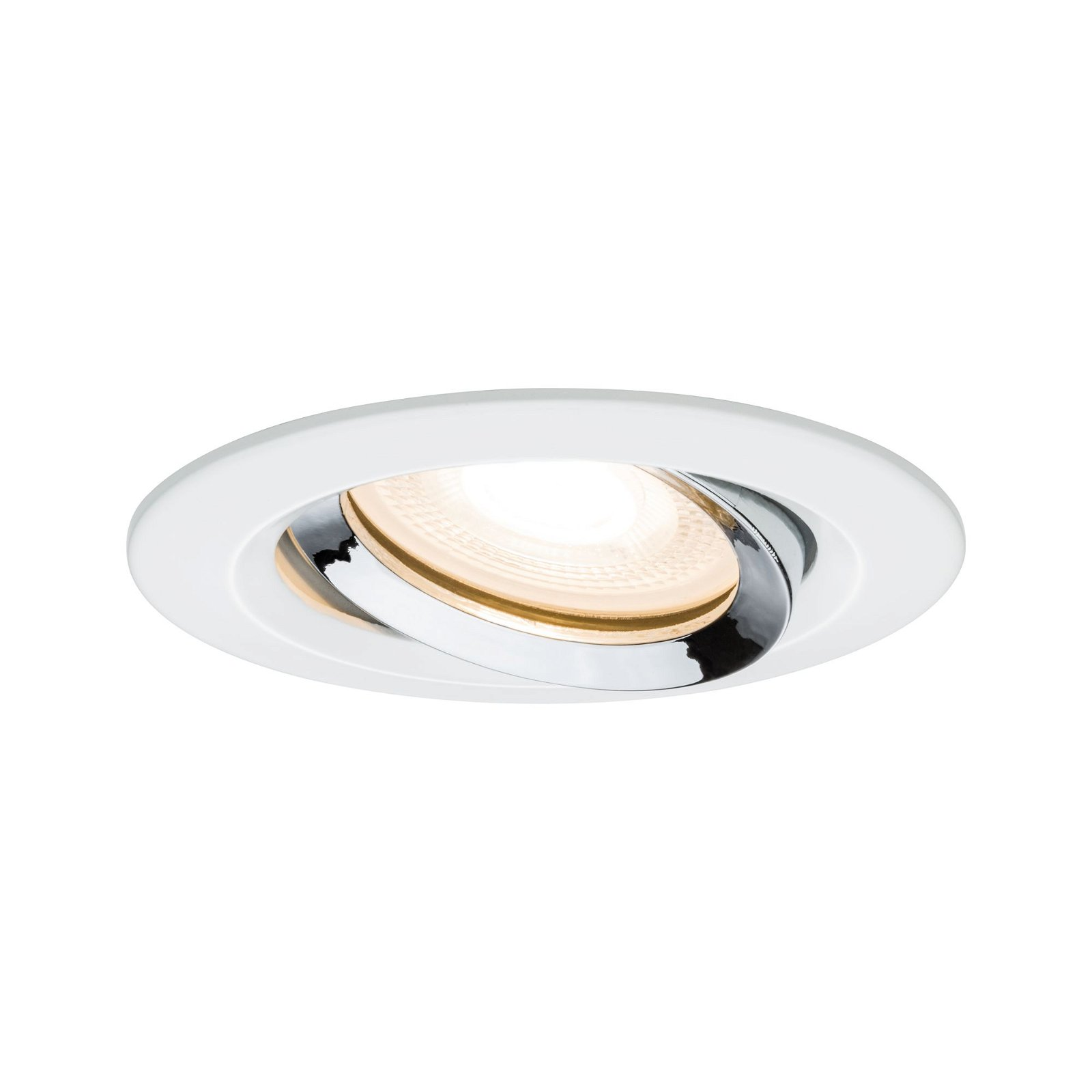 LED-inbouwlamp Nova Plus zwenkbaar IP65 rond 93mm 30° GU5,3 / GU10 max. 35W Wit mat/Chroom
