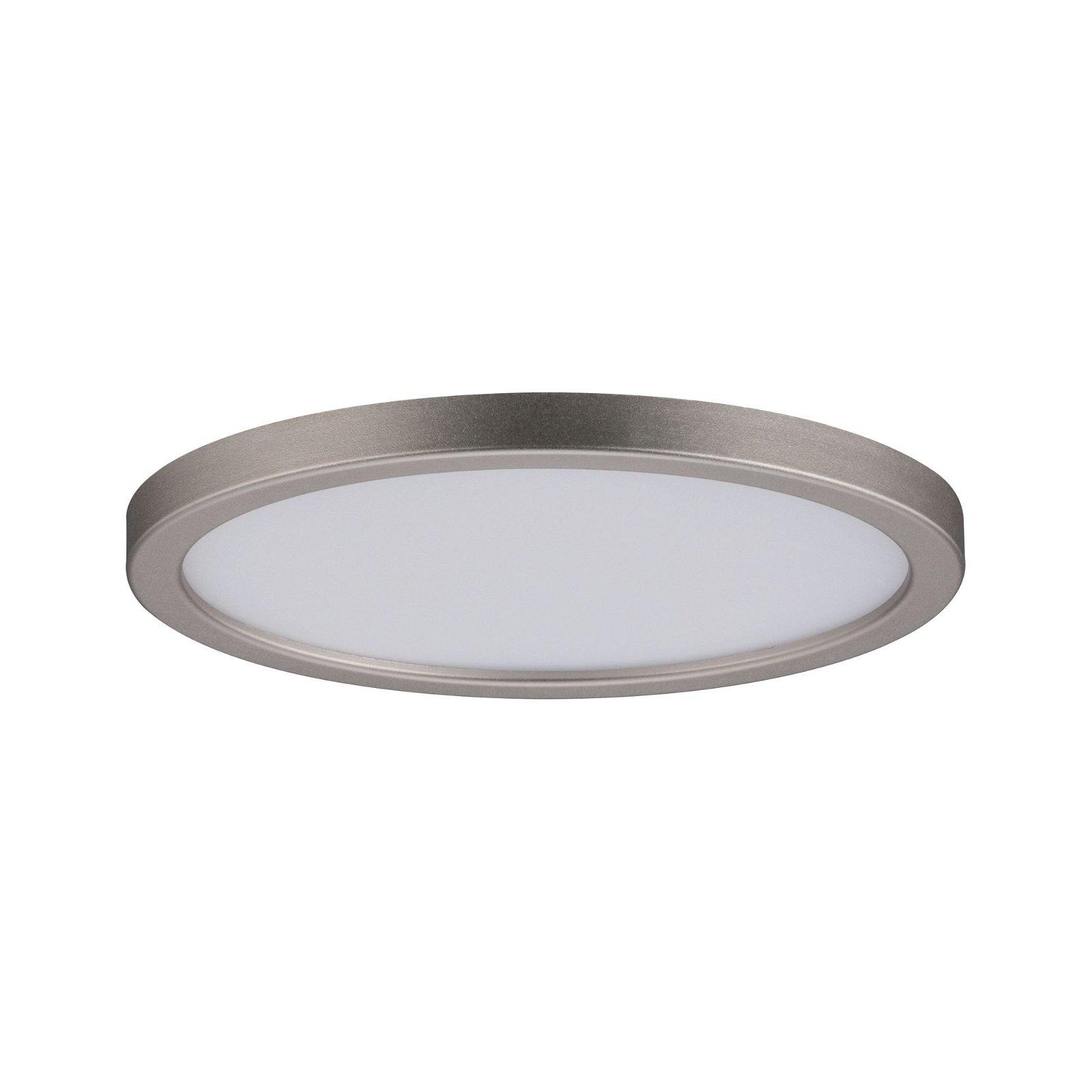 LED Einbaupanel Areo rund 120mm 920lm 3000K Nickel matt