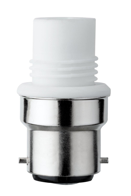 Leuchtmitteladapter G9 / B22d max. 75W Weiß