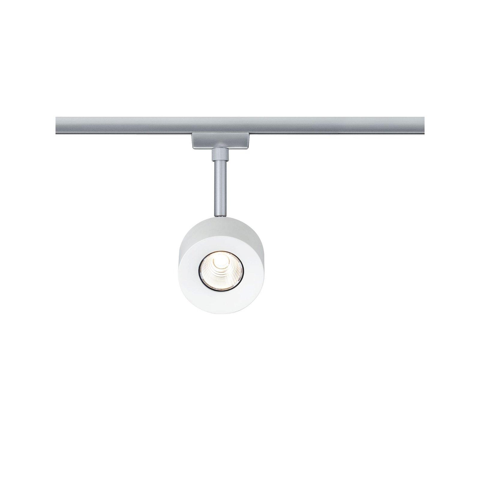 URail LED Schienenspot Pane 635lm 7,4W 2700K 230V Weiß/Chrom matt