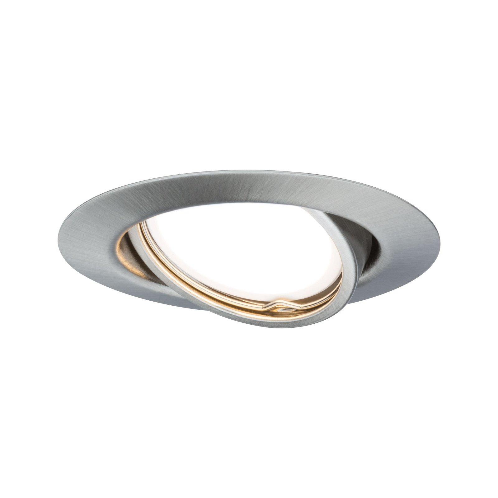 Einbauleuchte LED rund 4,5W GU10 Eisen 3er-Set schwenkbar