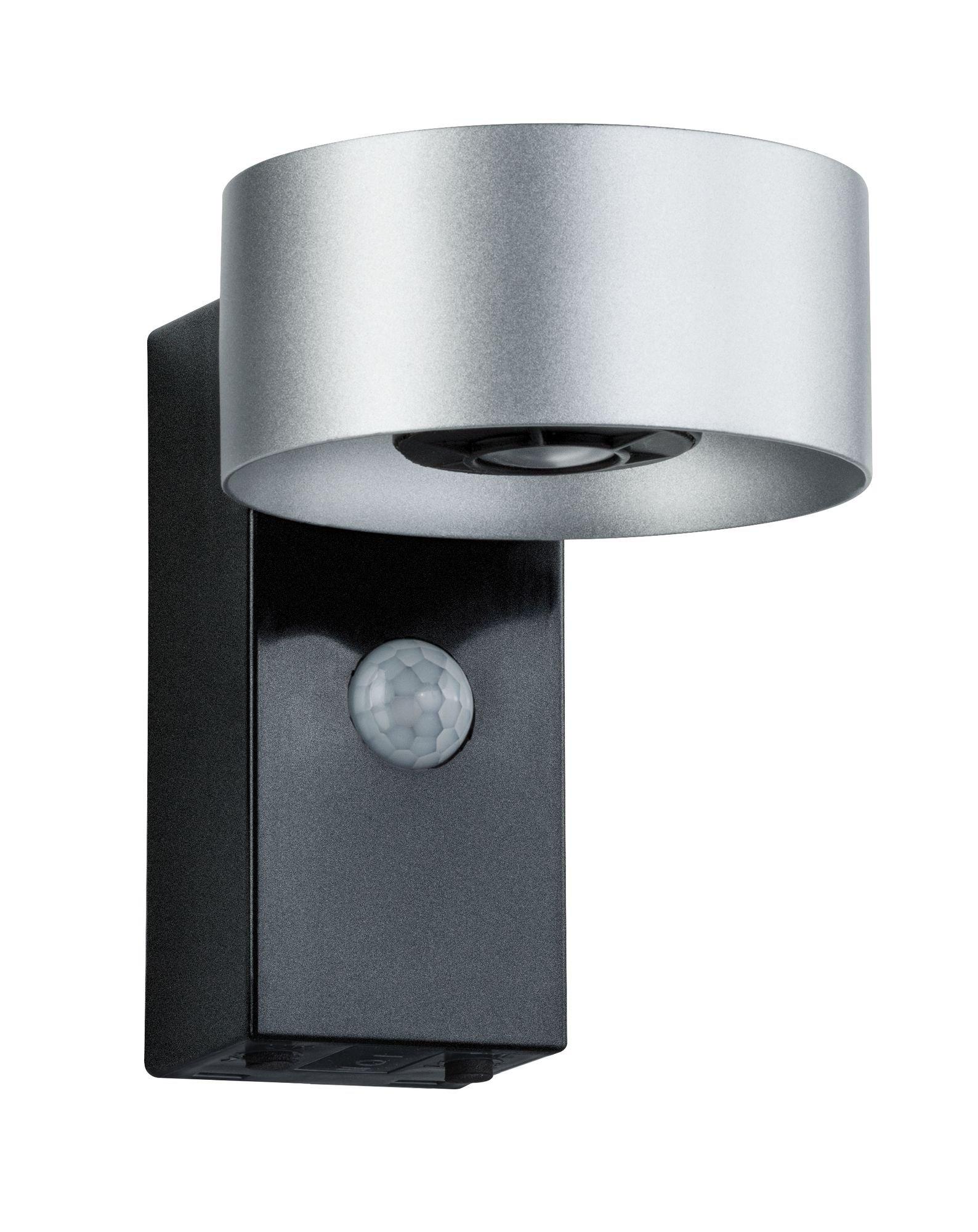 Applique lumineuse House Cone IP44 3000K 2x6W argent/ Anthracite avec détecteur de mouvement