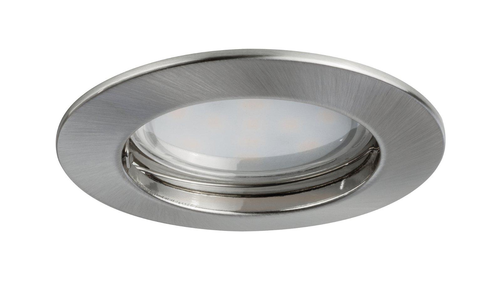 Encastrés LED Coin satiné rond 6,8W Acier Kit de1
