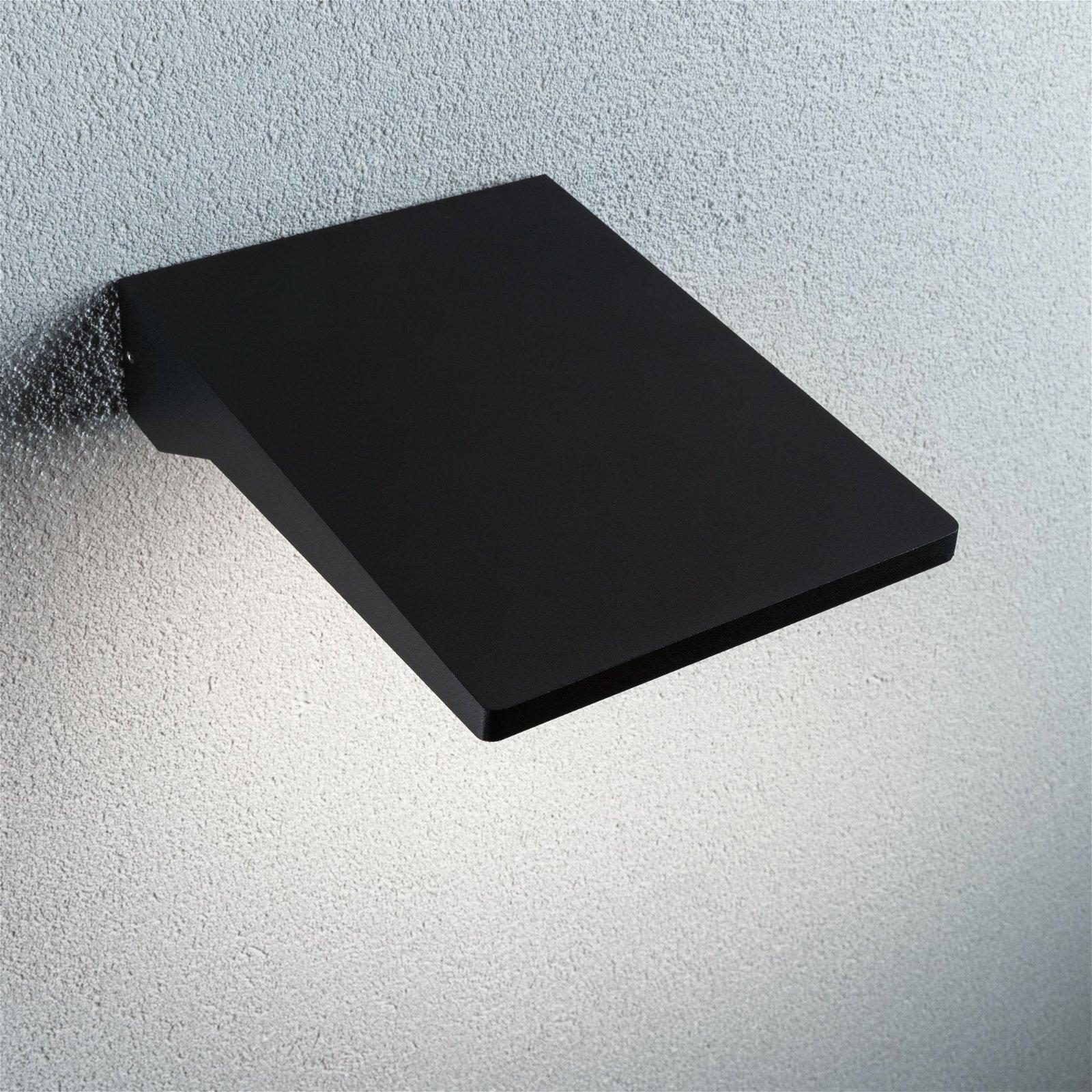 LED Außenwandleuchte Ronea Bewegungsmelder IP44 180x250mm 3000K 10,3W 1200lm 230V Dunkelgrau Aluminium