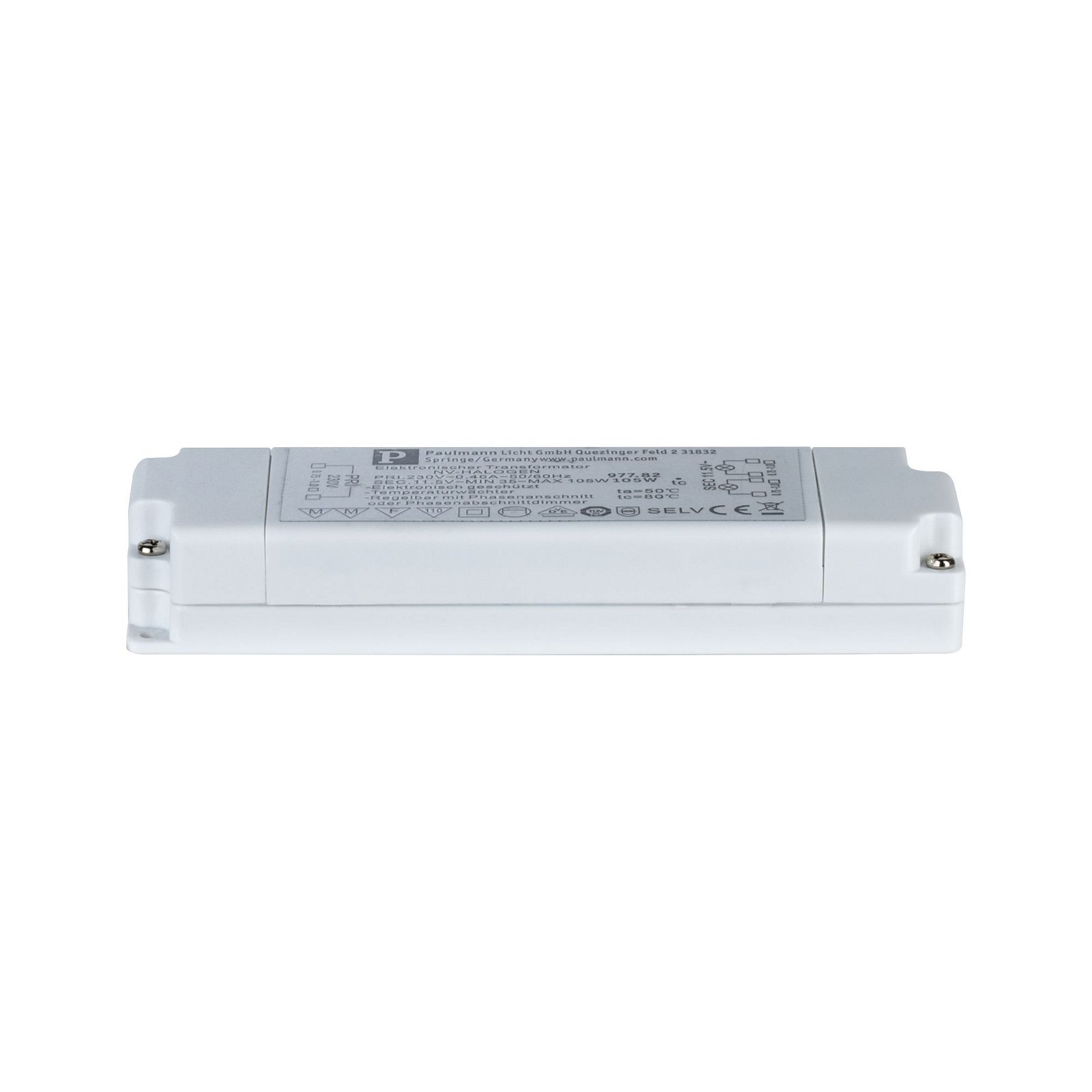 VDE Transfo électronique Flat 230/12V 105VA Blanc